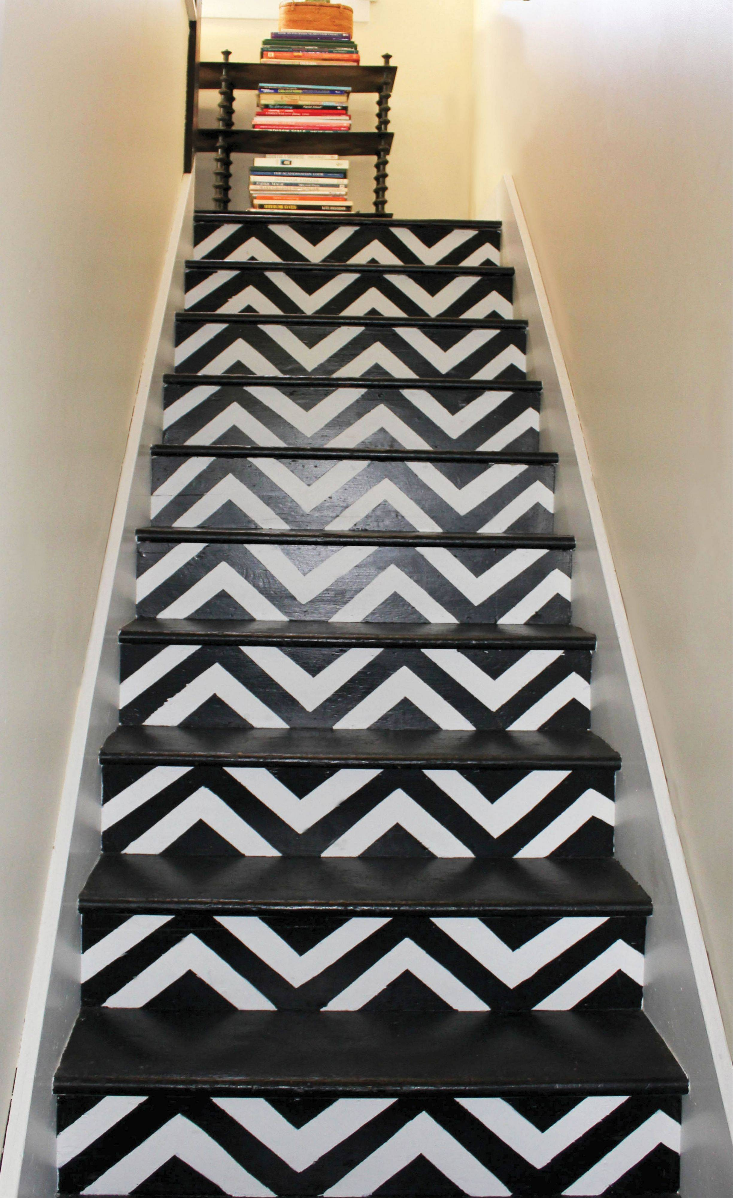 Chevron stripes can add a bold punch to your risers.