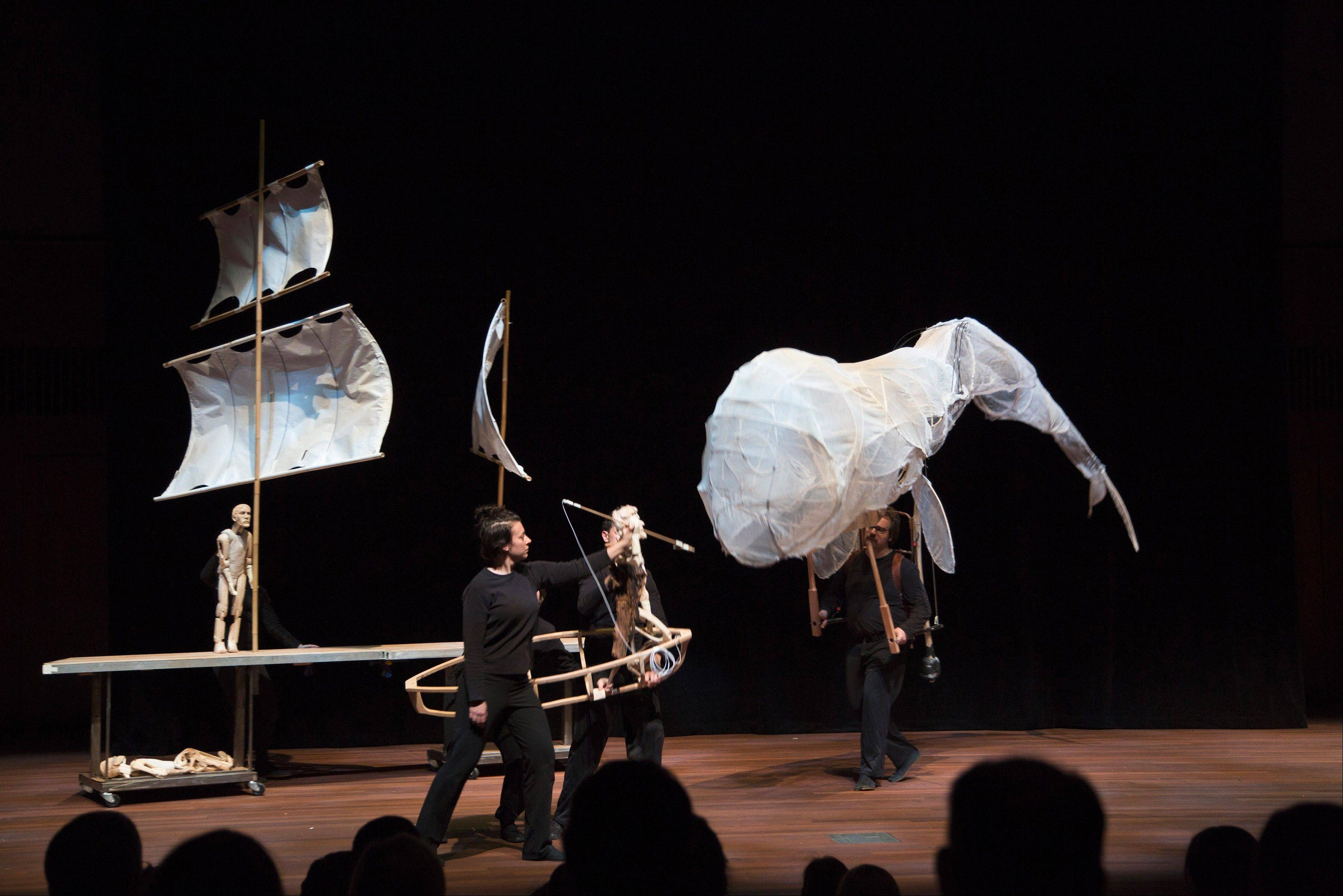 "A family-friendly rendition of ""Moby Dick"" with giant puppets will be presented at the Storefront Theater in Chicago."