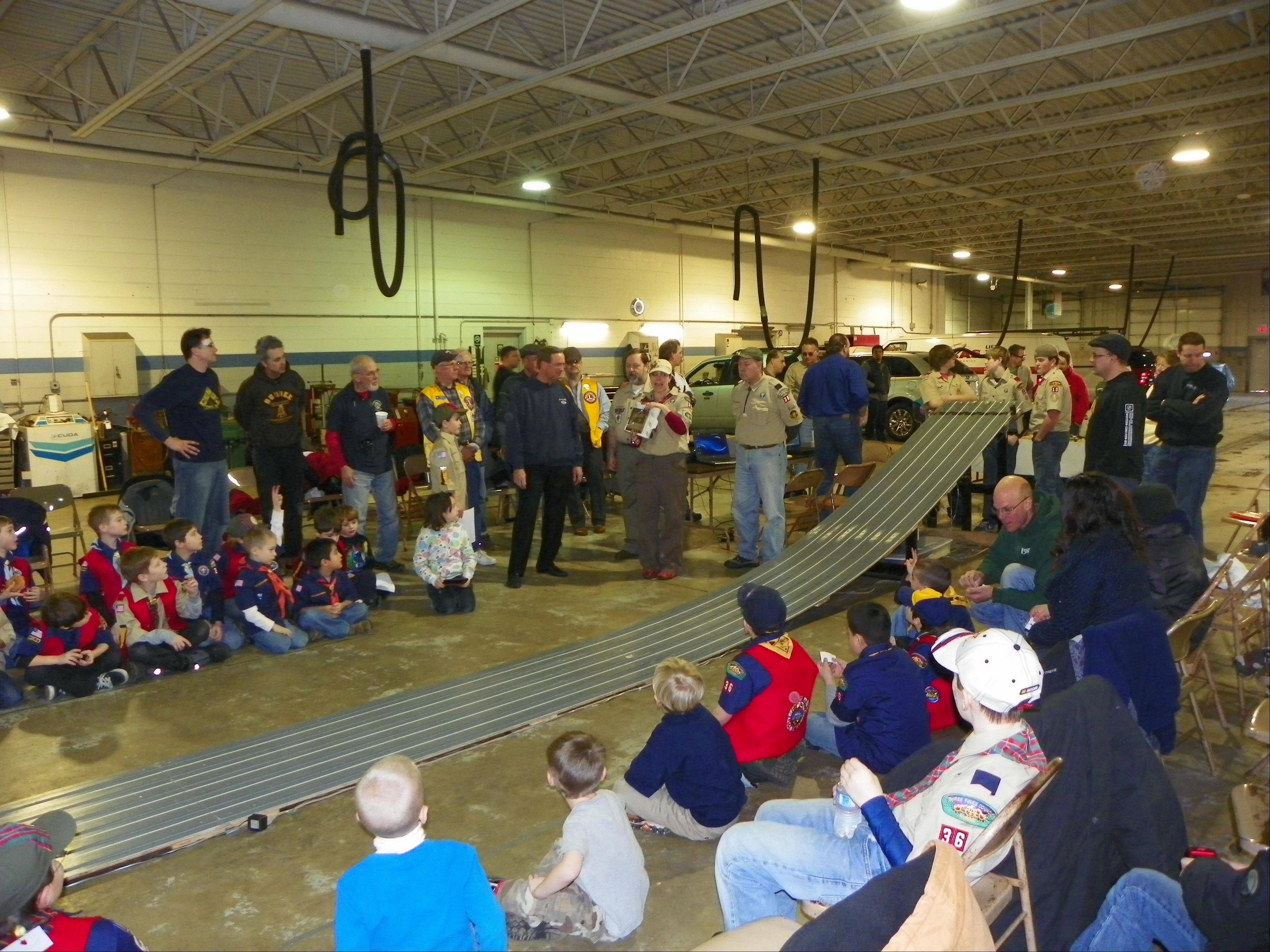 West Dundee's Cub Scout Pack 36 will compete in its annual Pinewood Derby at Spring Hill Ford in East Dundee.