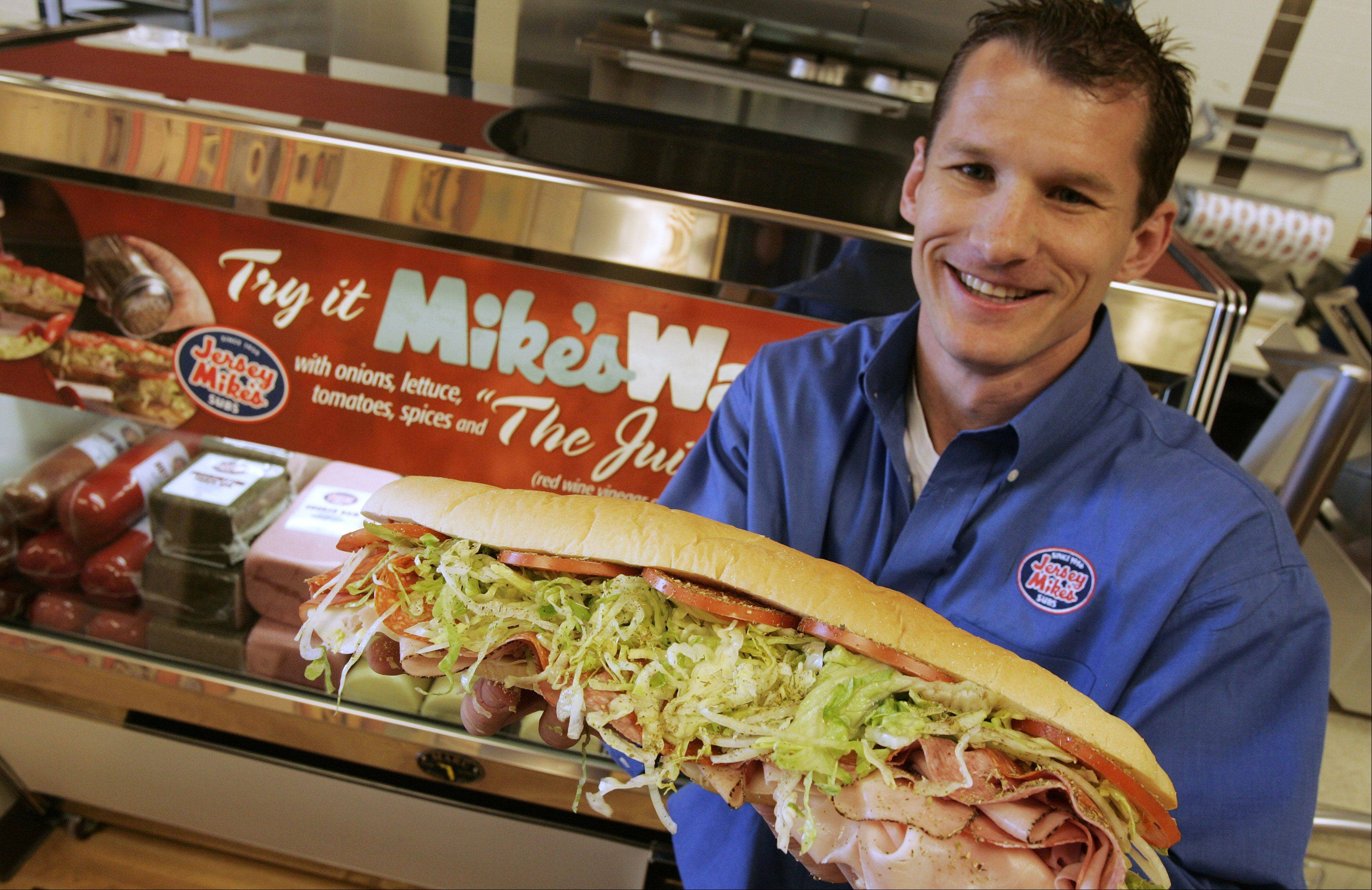 Mark Michalak is owner of Jersey Mike's Subs in Lake in the Hills and Crystal Lake. Jersey Mike's likes to partner with local organizations to hold fundraisers.