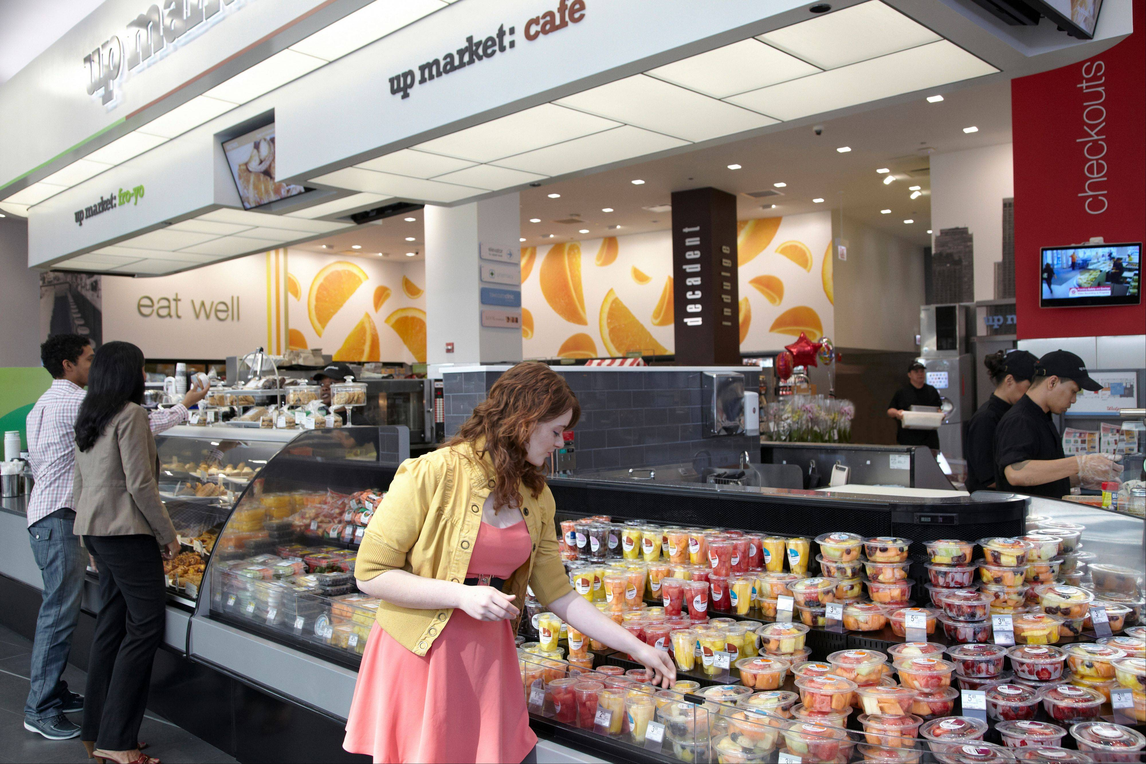 A look at the ready-made foods at the new Walgreens on State Street in downtown Chicago.