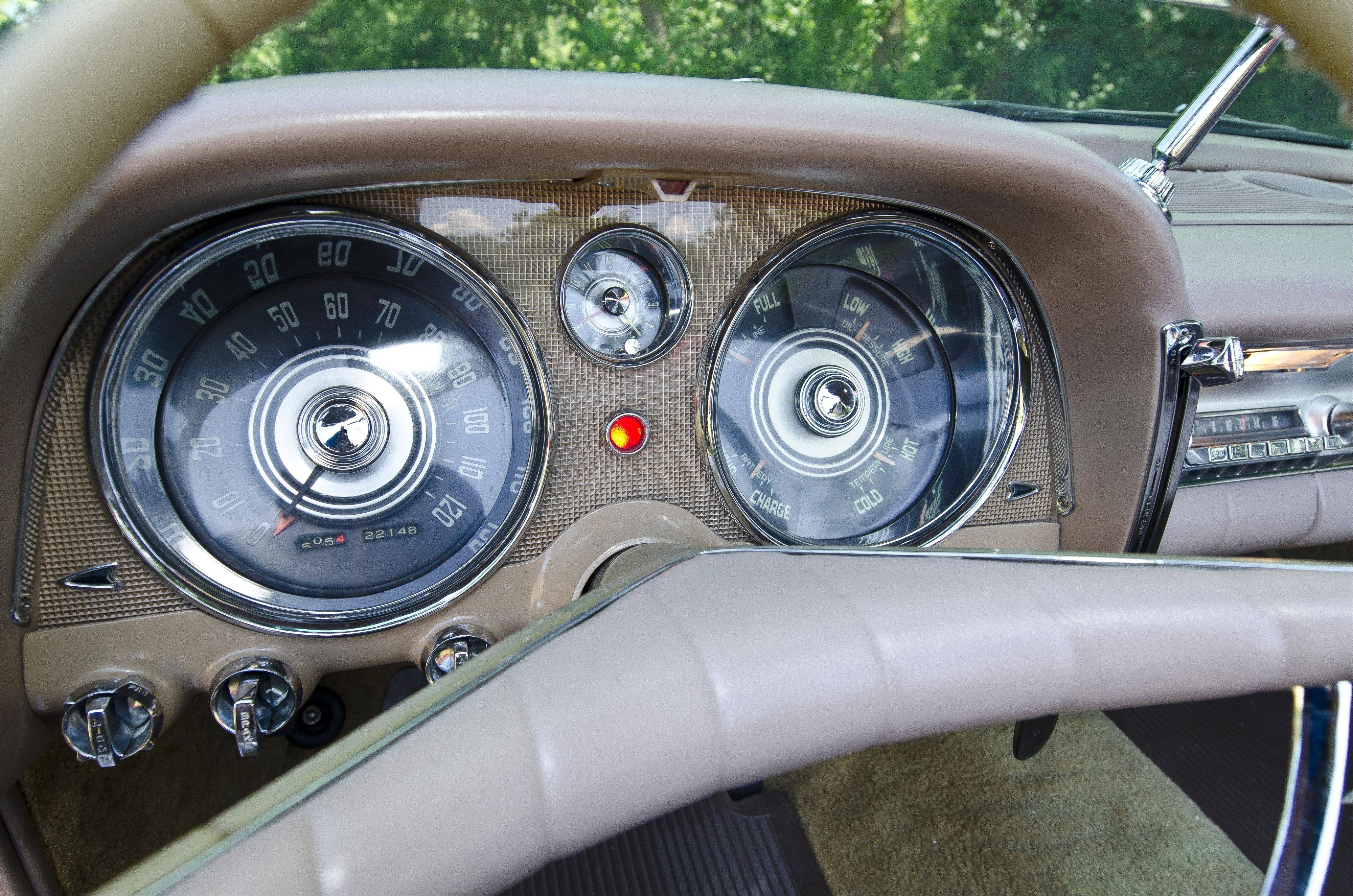 The Imperial's gauge cluster and push button controls take design cues from the aviation industry.