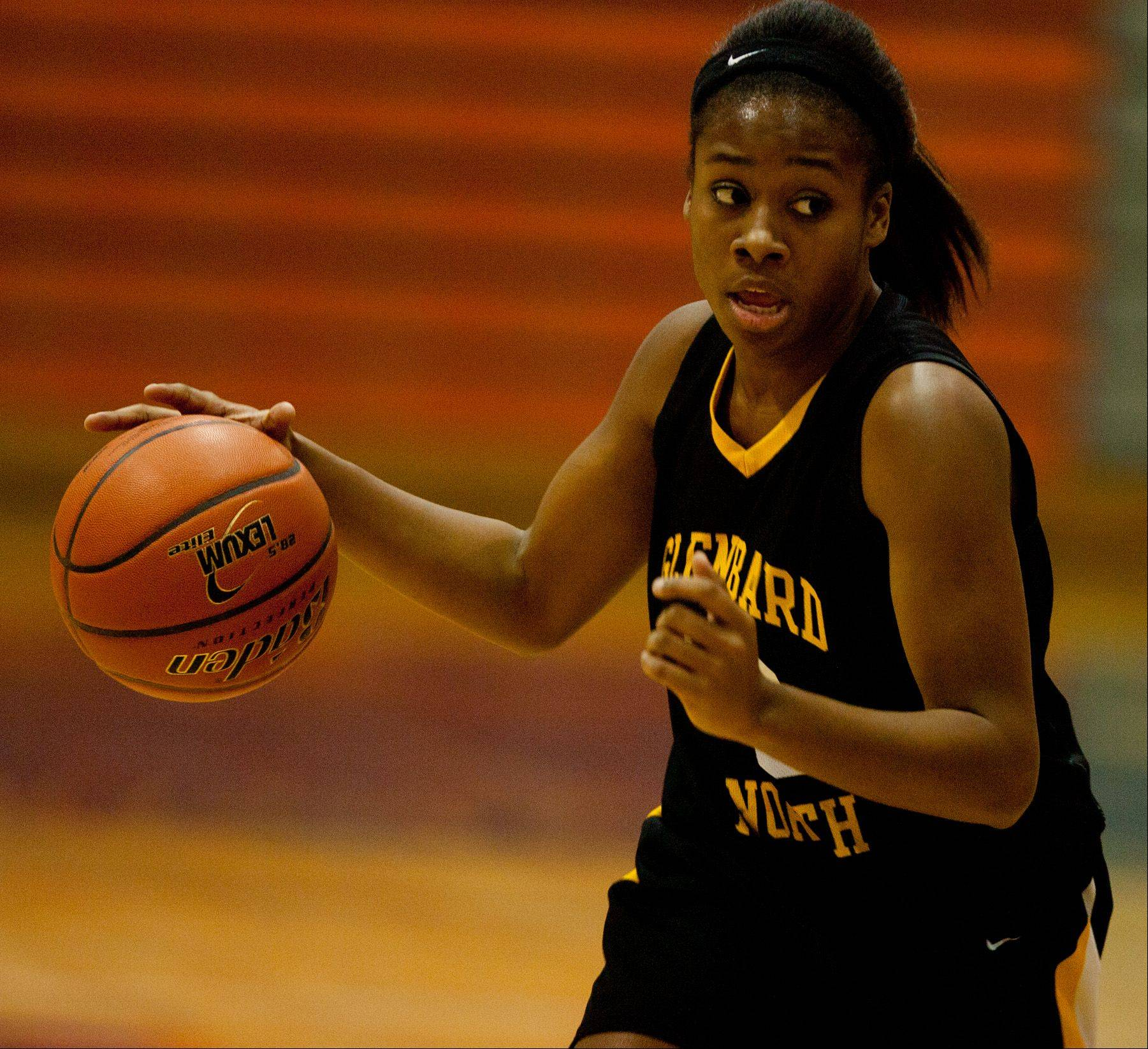 Images from the Naperville North vs. Glenbard North girls basketball game on Monday, Jan. 14, 2013.
