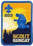 2013 Scout Sunday patch.