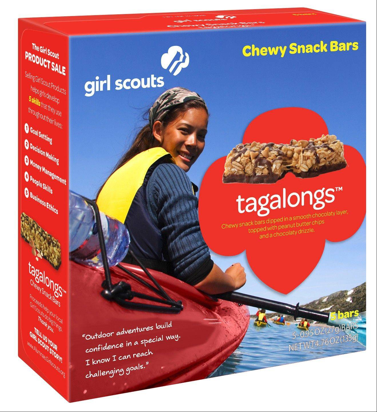Girl Scouts of Northern Illinois is one of only six councils across the nation to pilot two varieties of Girl Scout Snack Bars during the 2013 Girl Scout Cookie Program -- Tagalongs and Double Dutch snack bars.