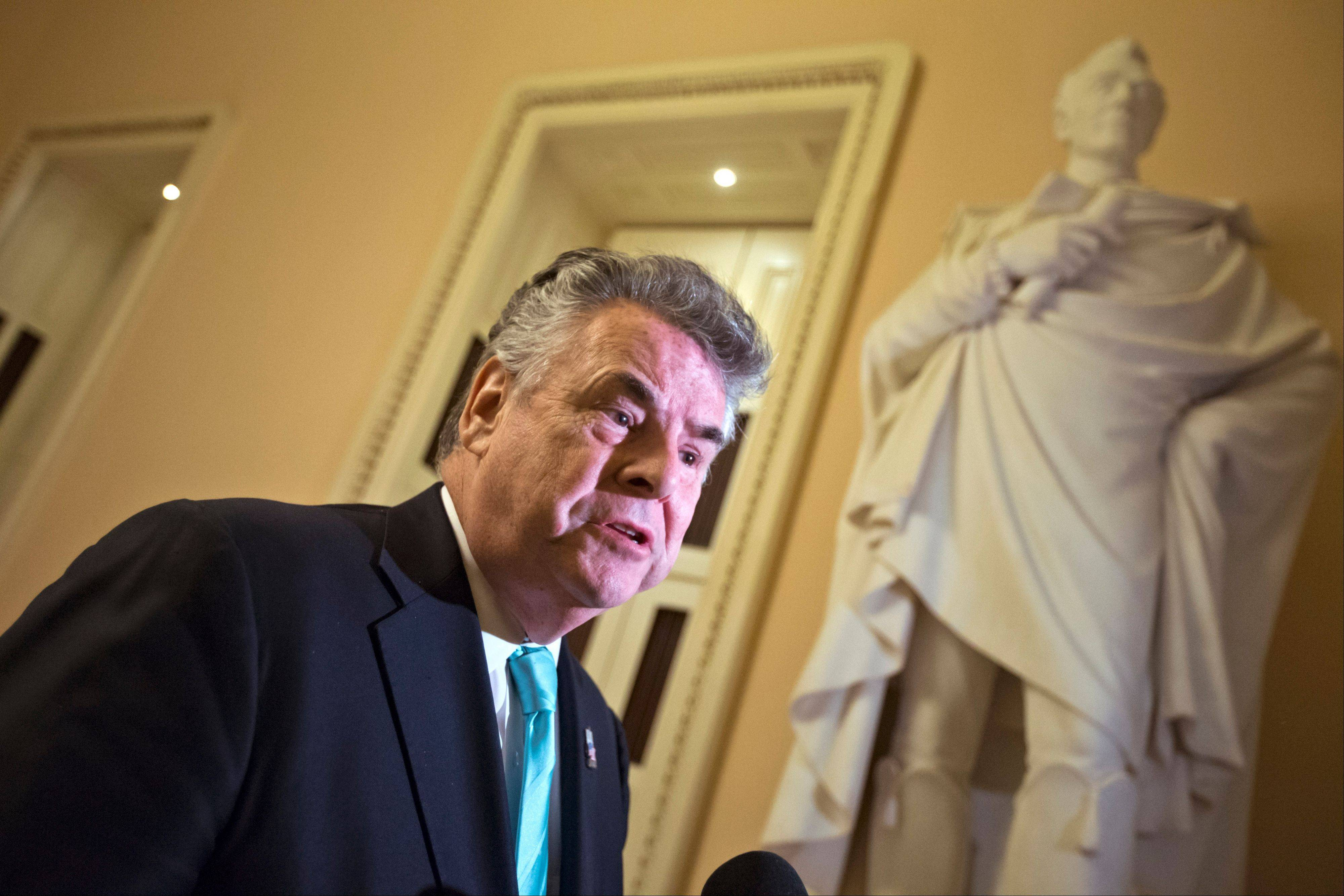 Rep. Peter King, a New York Republican, was a vocal supporter of aid legislation for victims of Superstorm Sandy.
