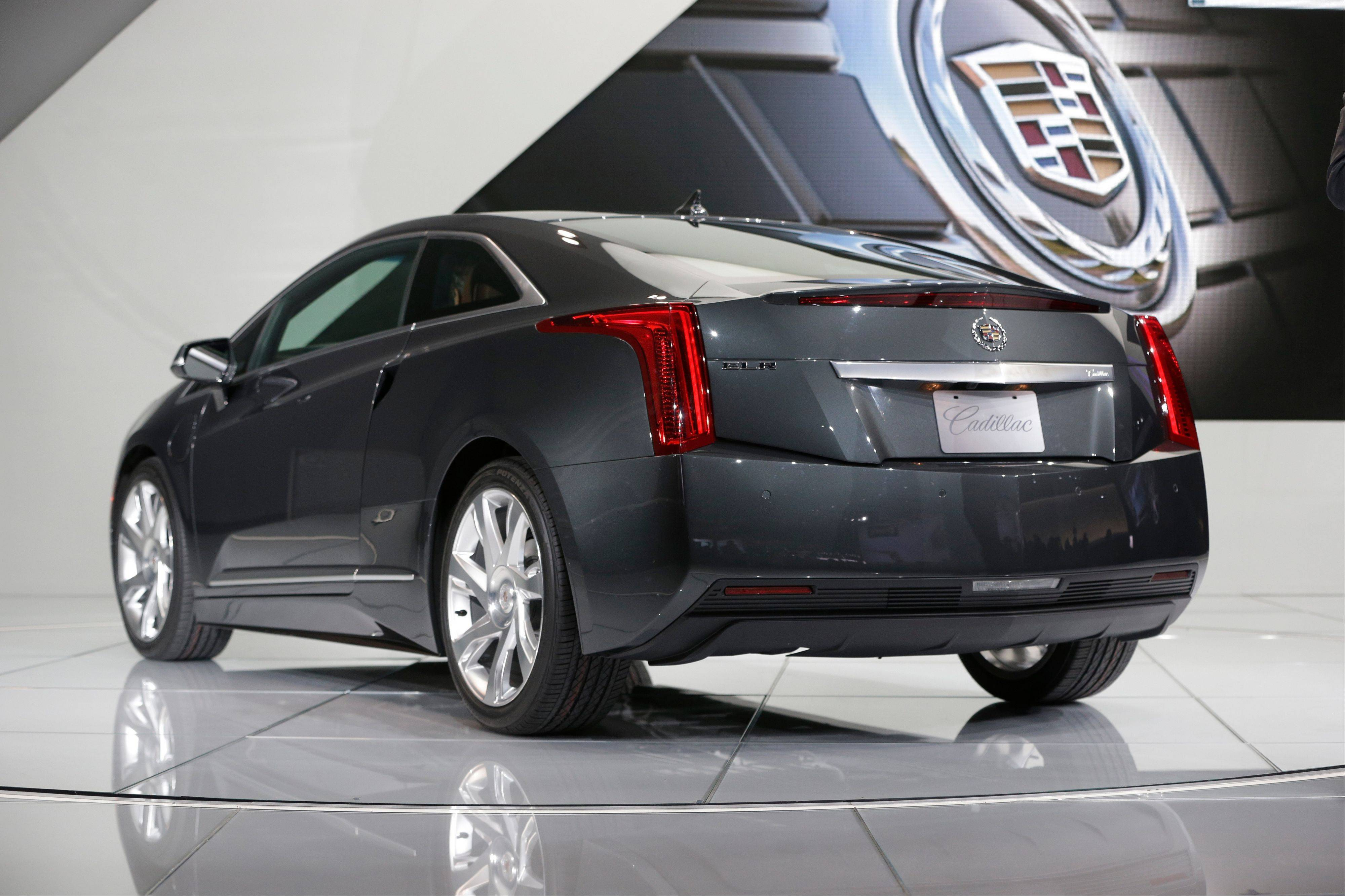 The Cadillac ELR is unveiled during the North American International Auto Show in Detroit, Tuesday, Jan. 15, 2013.