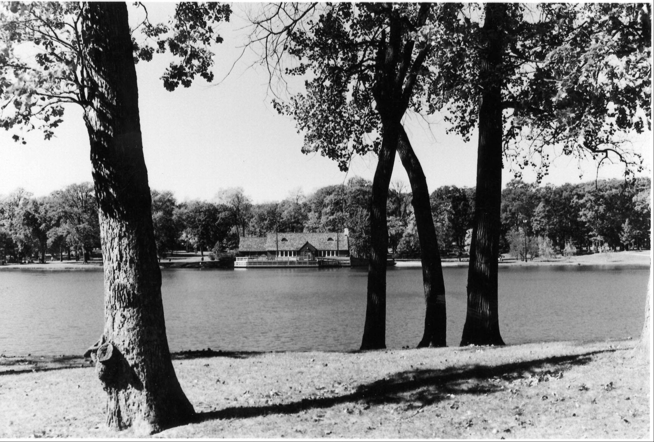 Lake Ellyn Park in Glen Ellyn was established shortly after the park district was incorporated in 1919, and the boathouse constructed in 1937 as a warming shelter for ice skaters.