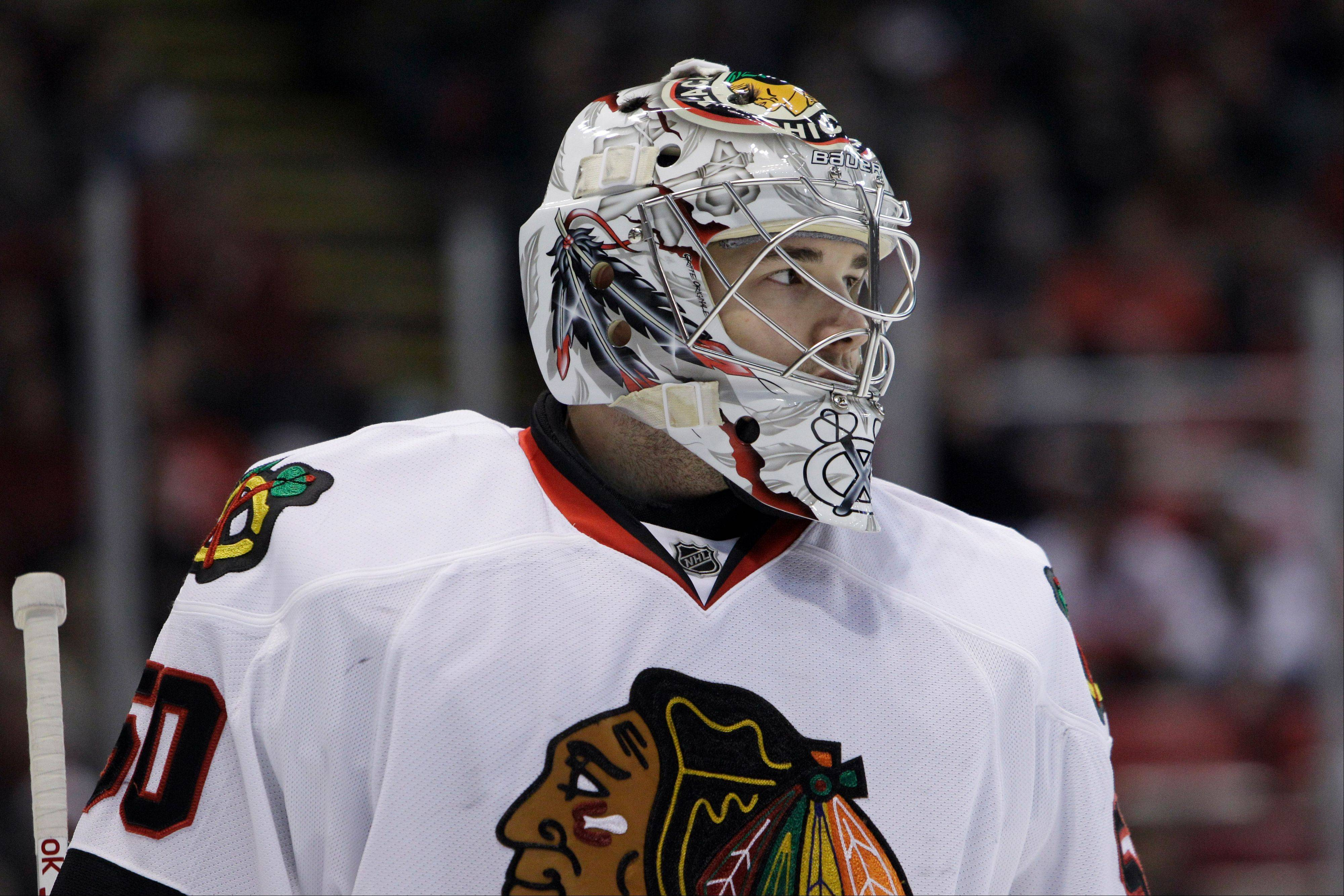 Although he won 30 games last season for the Blackhawks, goalie Corey Crawford says he's focusing on providing more consistency this season.