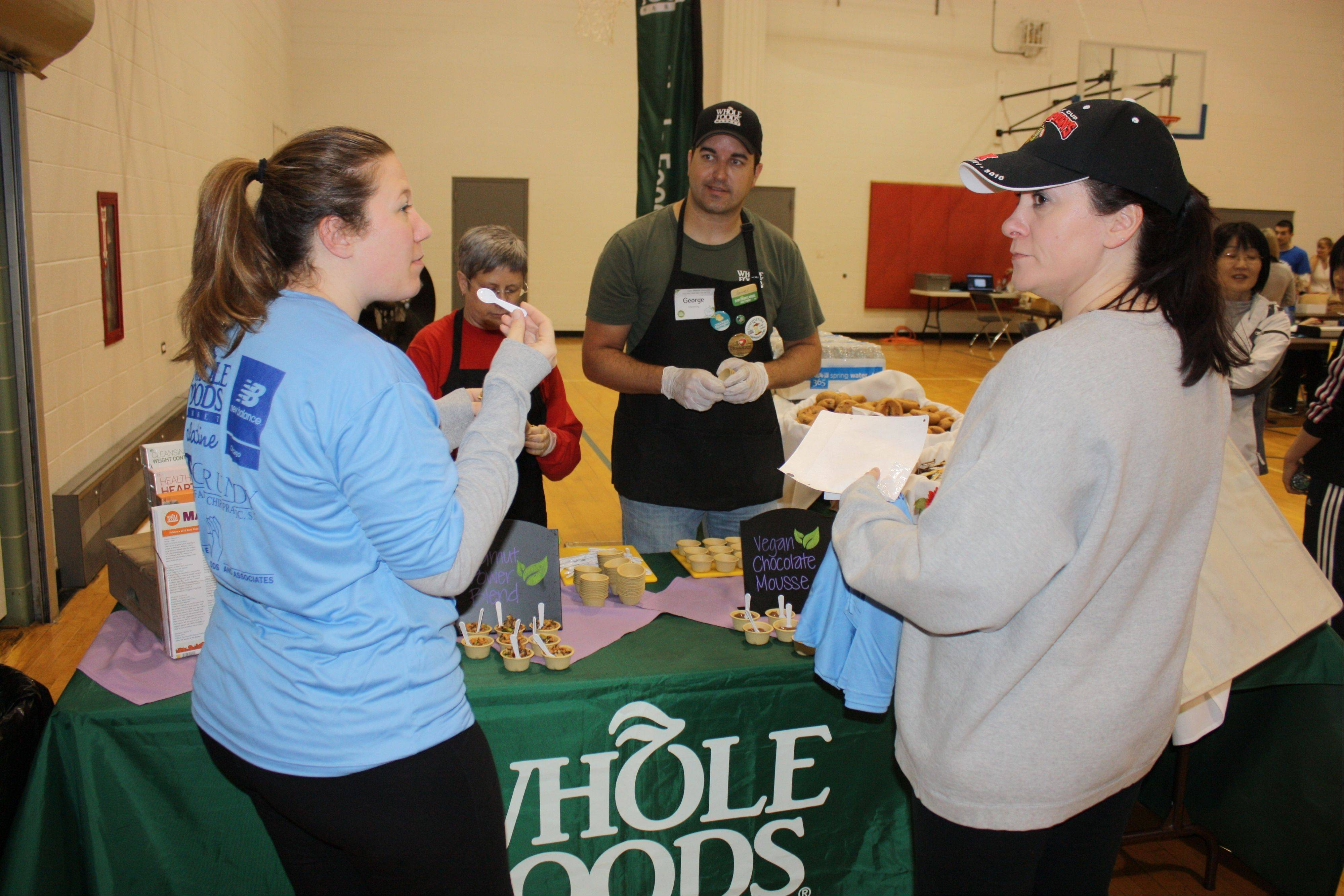 Participants of last year's Healthy Living Expo sample healthy snacks from Whole Foods in Palatine. The Palatine Park District will host its second annual Healthy Living Expo from 8-11 a.m. on Saturday, April 6, at Birchwood Recreation Center, 435 W. Illinois Ave., in Palatine.