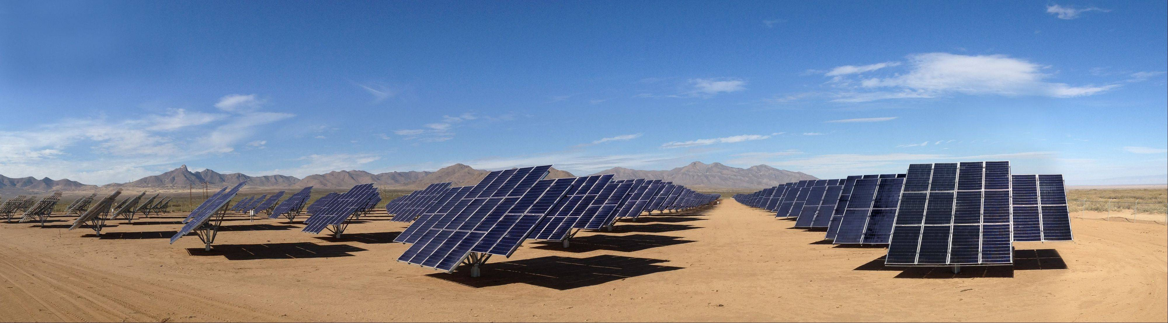 The Army�s solar array at White Sands, N.M.