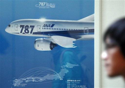 A Boeing 787 domestic flight to Tokyo was canceled on Wednesday after a computer wrongly indicated there was a problem with the Boeing 787's brakes.