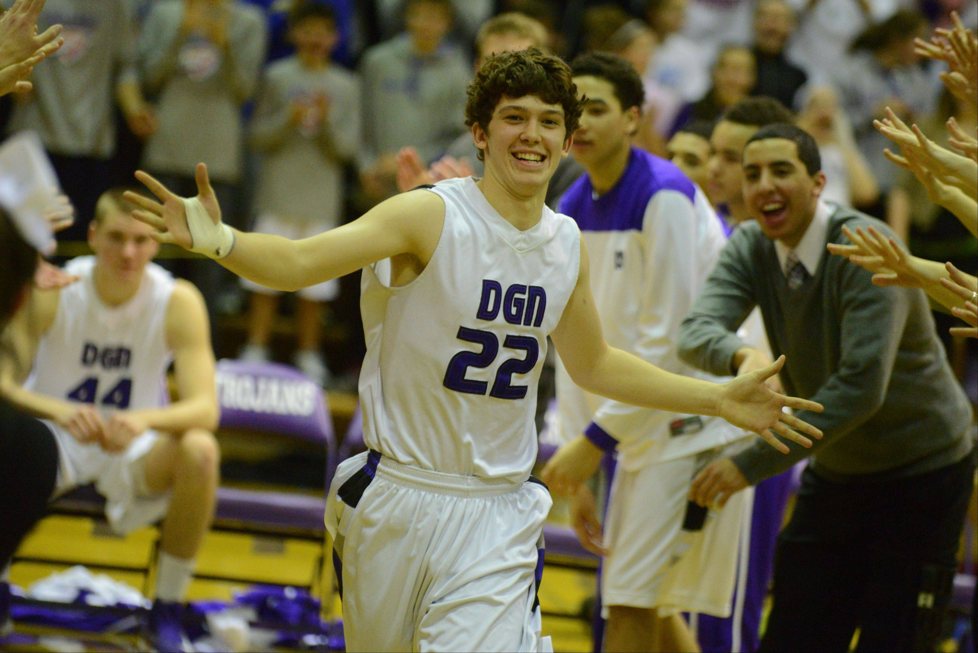 Images from the Montini vs. Downers Grove North boys basketball game on Wednesday, Jan. 16, 2013.