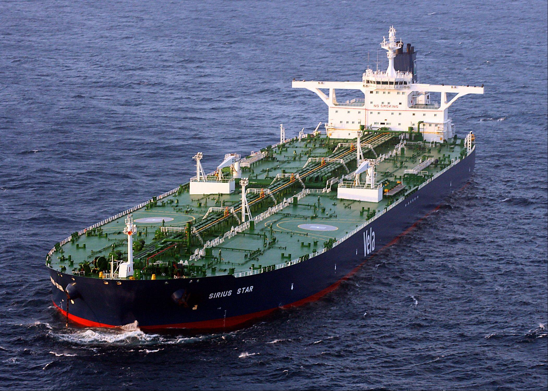 Somalian pirates captured a Saudi supertanker with $100 million incrude oil in November 20012.