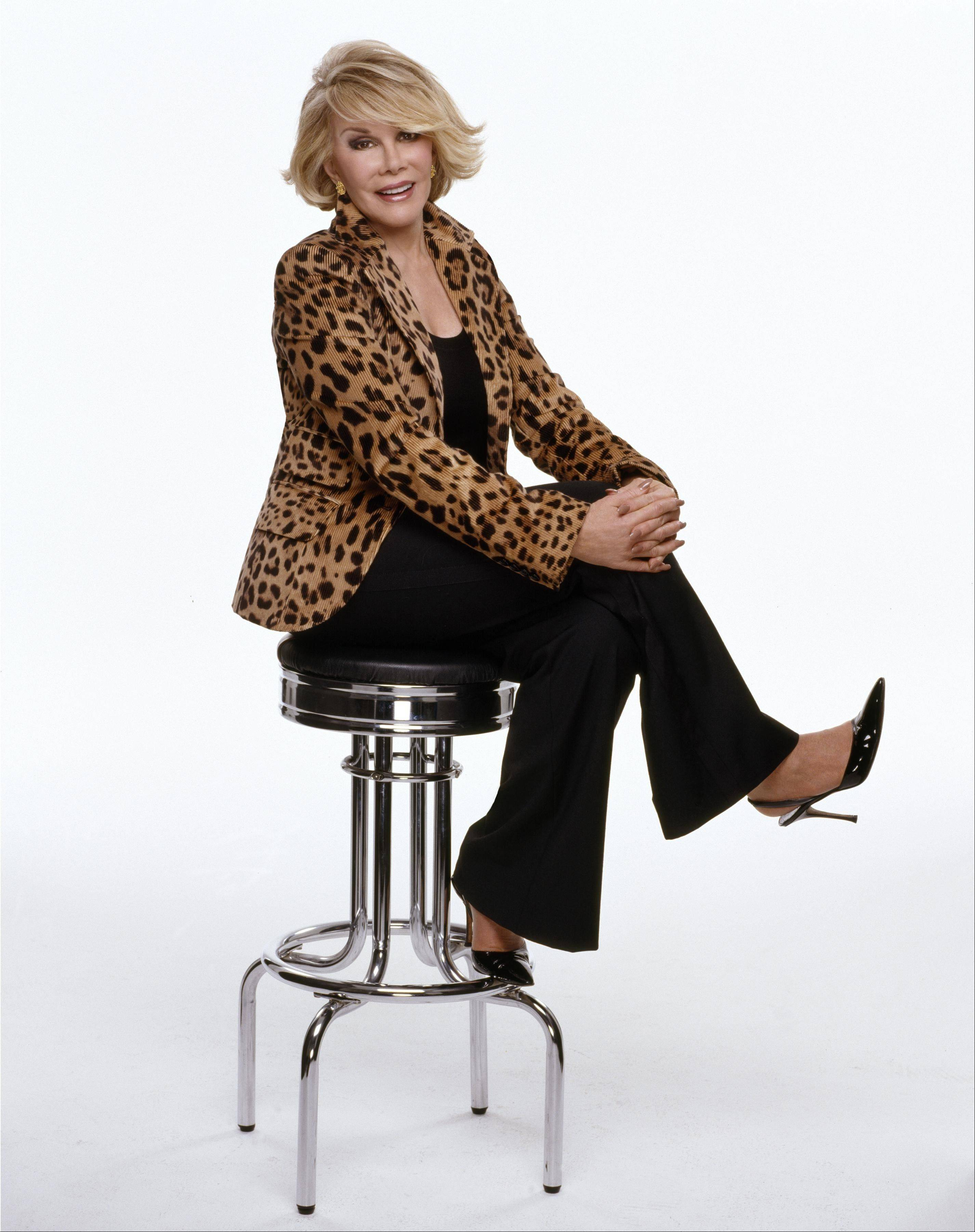 Joan Rivers' taped St. Charles appearance at the Arcada Theatre is now available on DVD.