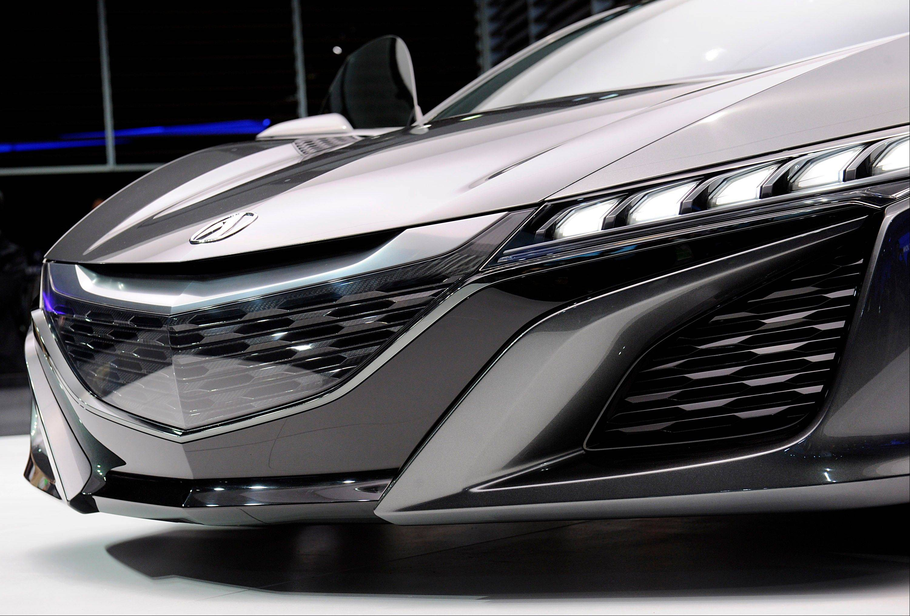 The Honda Motor Co. 2015 Acura NSX concept vehicle is displayed during the 2013 North American International Auto Show (NAIAS) in Detroit, Michigan, U.S., on Tuesday, Jan. 15, 2013. The Detroit auto show runs through Jan. 27 and will display over 500 vehicles, representing the most innovative designs in the world.