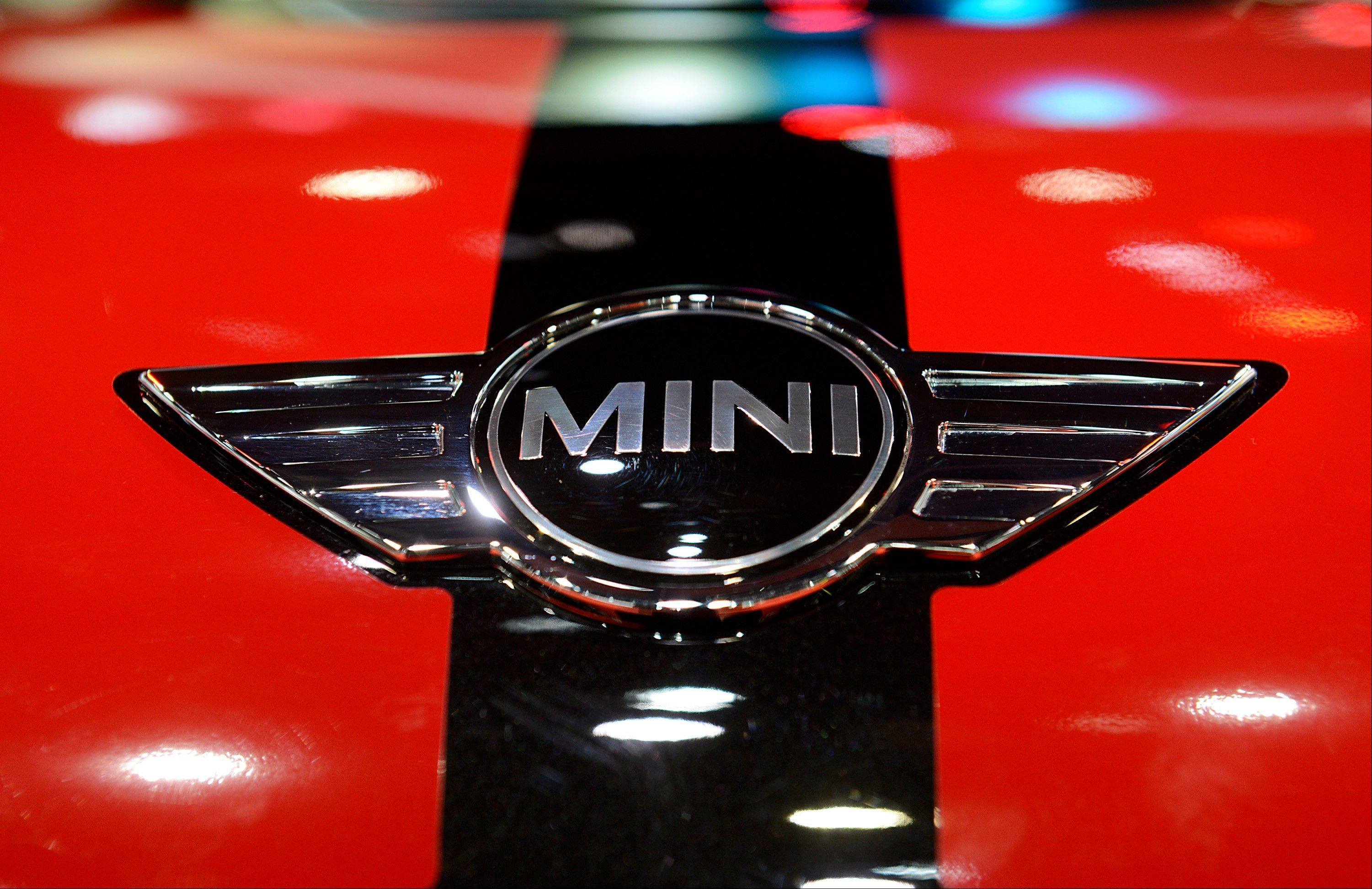 The Bayerische Motoren Werke AG (BMW) Mini Cooper logo is seen on a vehicle during the 2013 North American International Auto Show (NAIAS) in Detroit, Michigan, U.S., on Tuesday, Jan. 15, 2013. The Detroit auto show runs through Jan. 27 and will display over 500 vehicles, representing the most innovative designs in the world.