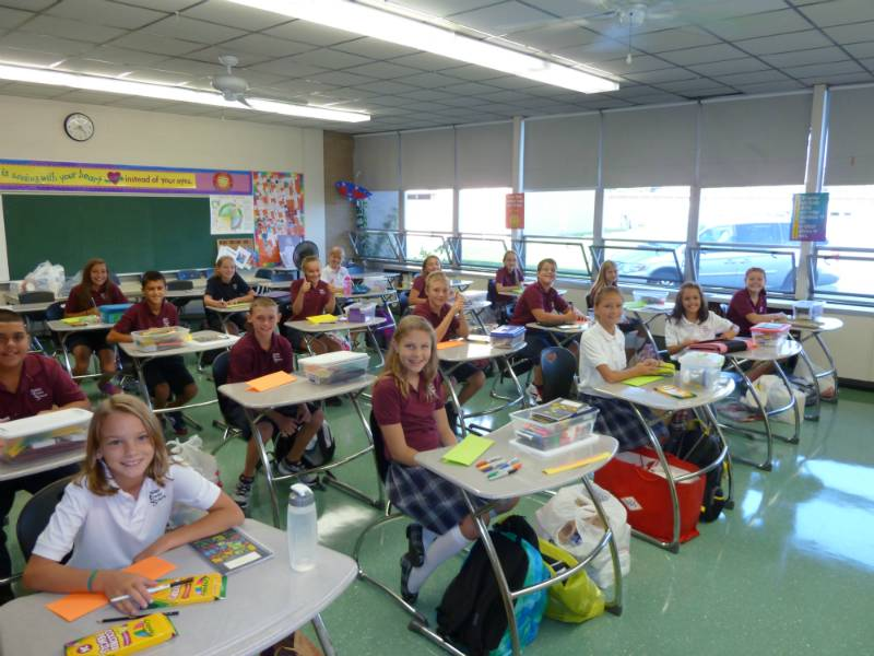 St Emily Students on their first day of school (August 2012)