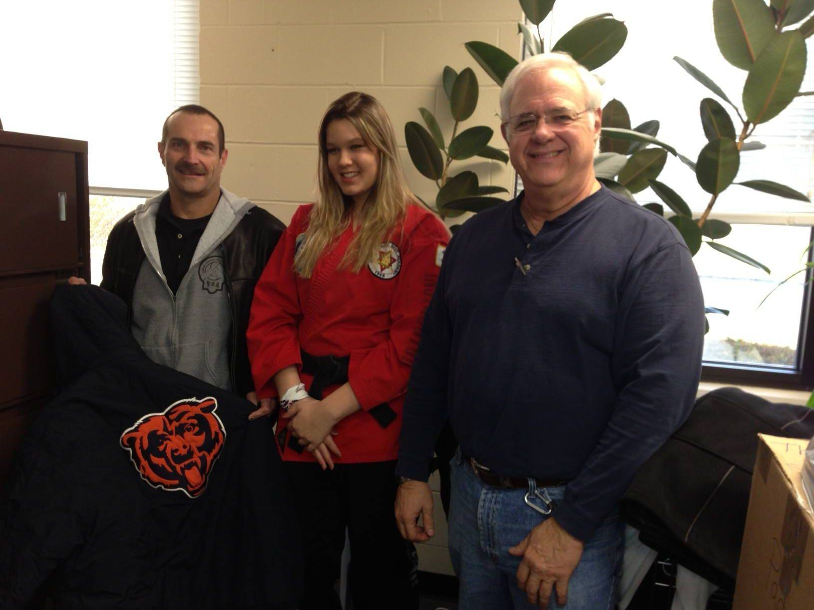 From left, Rick Steinmaier, chief instructor, Grace McMahon, program director, and Dennis Hewitt, executive director of PADS