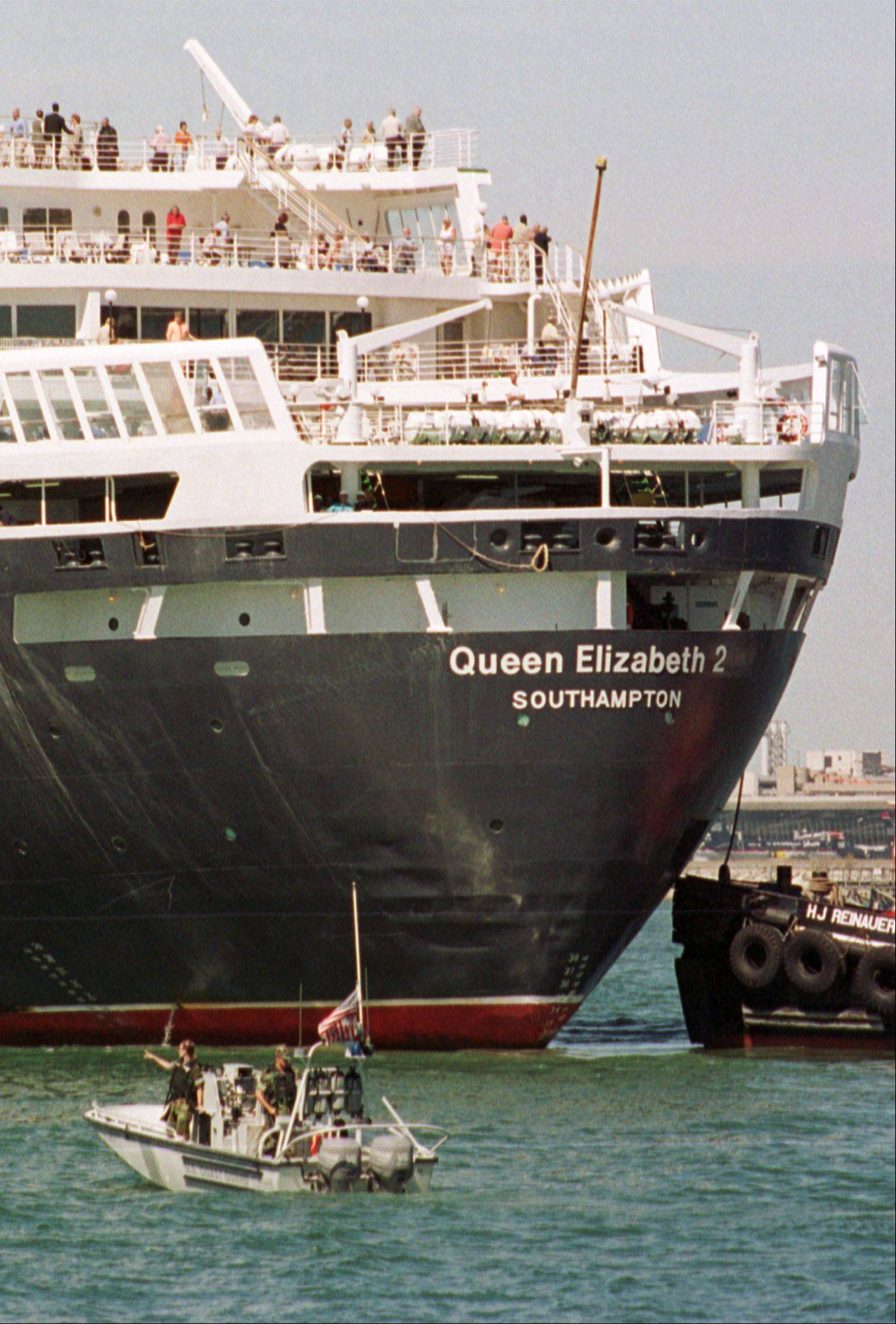 The luxury liner Queen Elizabeth 2