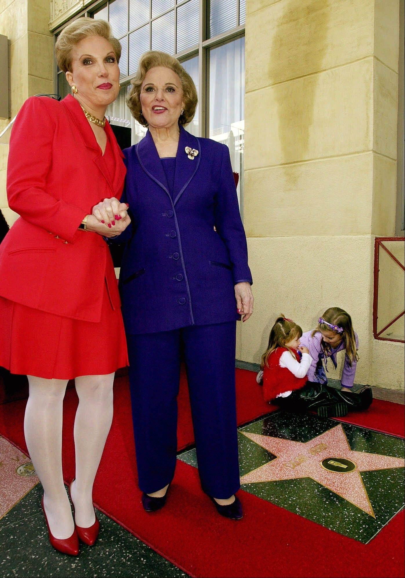 Pauline Friedman Phillips, right, the nationally-syndicated advice columnist best known as �Dear Abby,� and her daughter Jeanne Phillips, pose after the dedication of a Dear Abby star on the Hollywood Walk of Fame in Los Angeles in 2001.