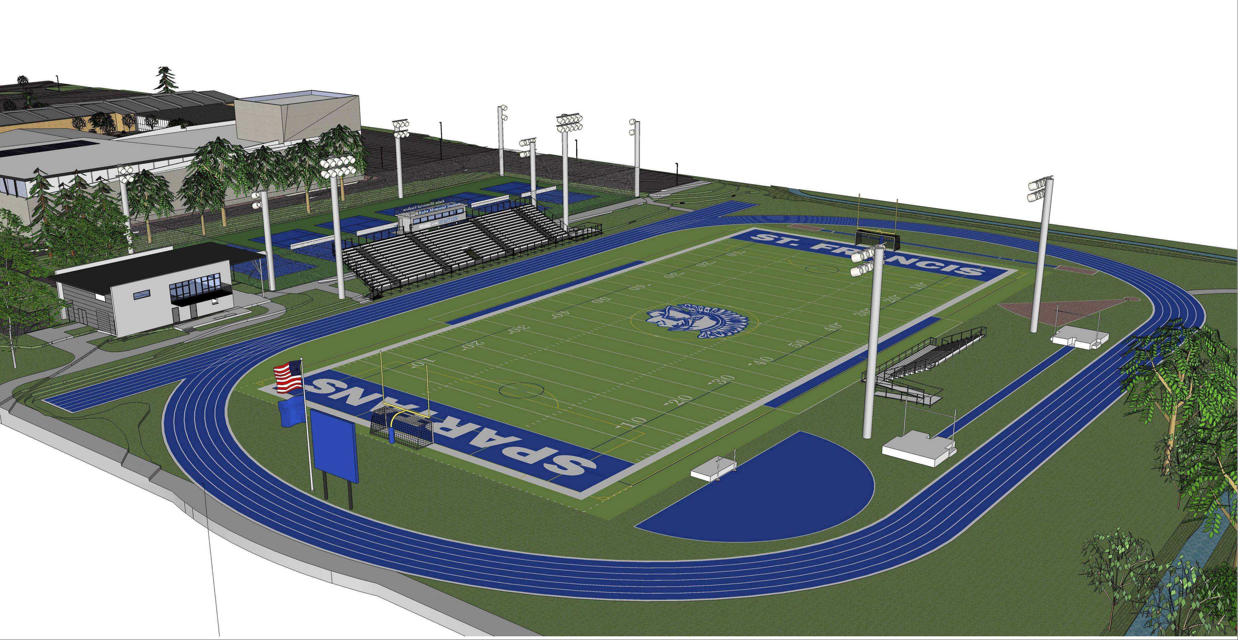 A new $5 million athletic complex at St. Francis High School in Wheaton is expected to be ready to open in time for the fall sports season in August.