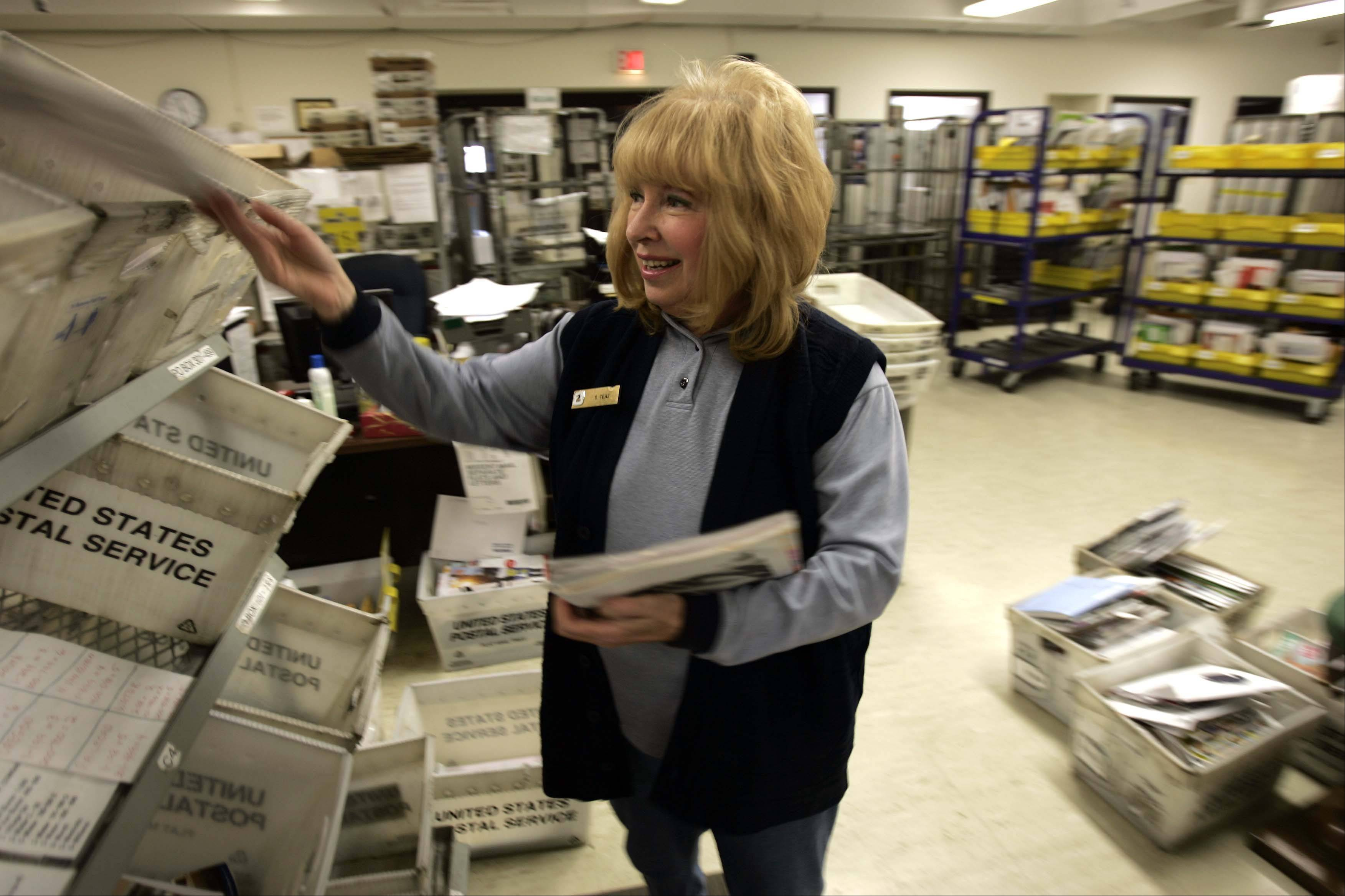Sue Teas will retire from the West Dundee post office at the end of January.