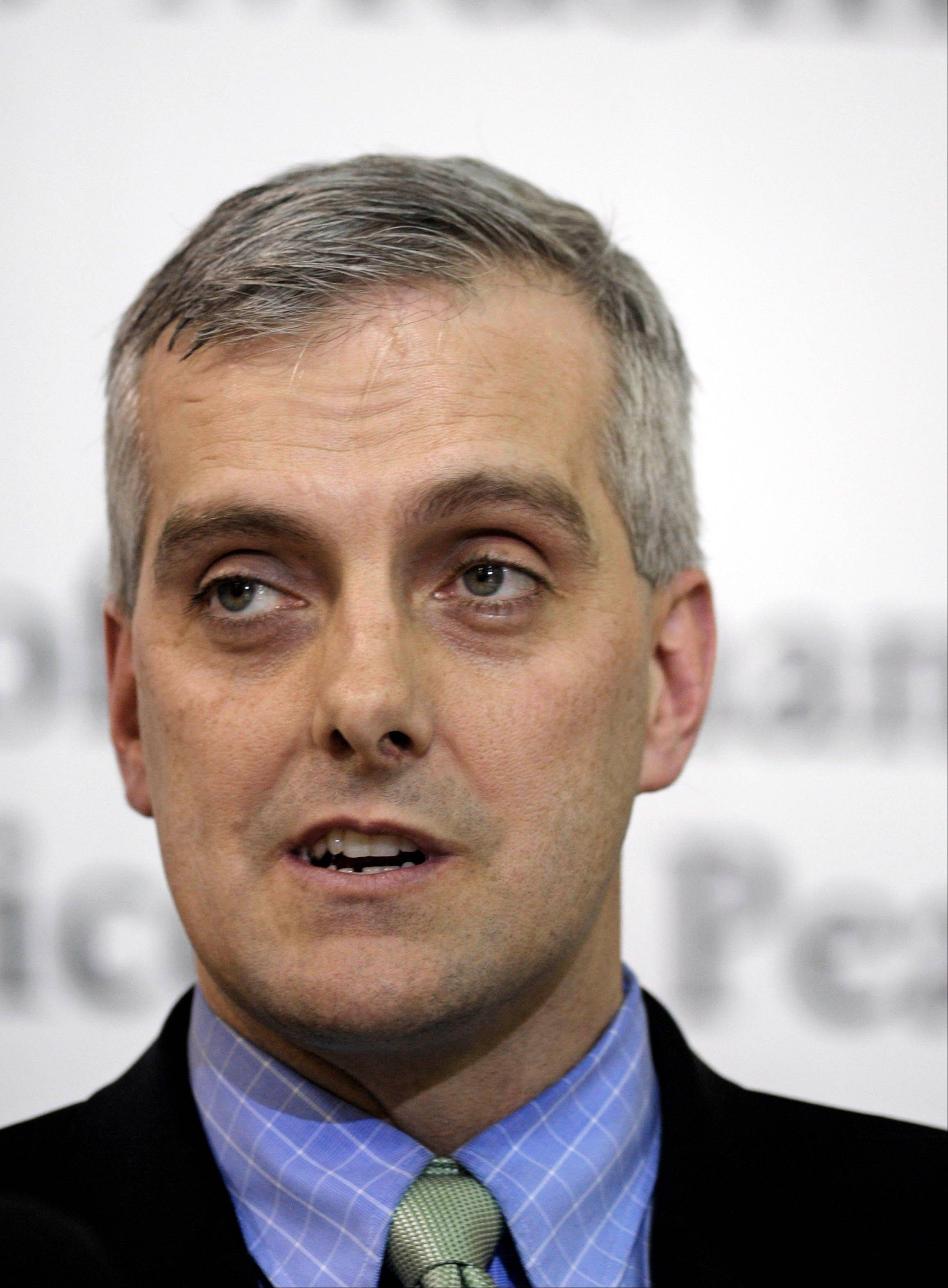 People familiar with White House thinking say President Barack Obama is likely to name top national security aide Denis McDonough as his next chief of staff, Wednesday, Jan. 16, 2013.