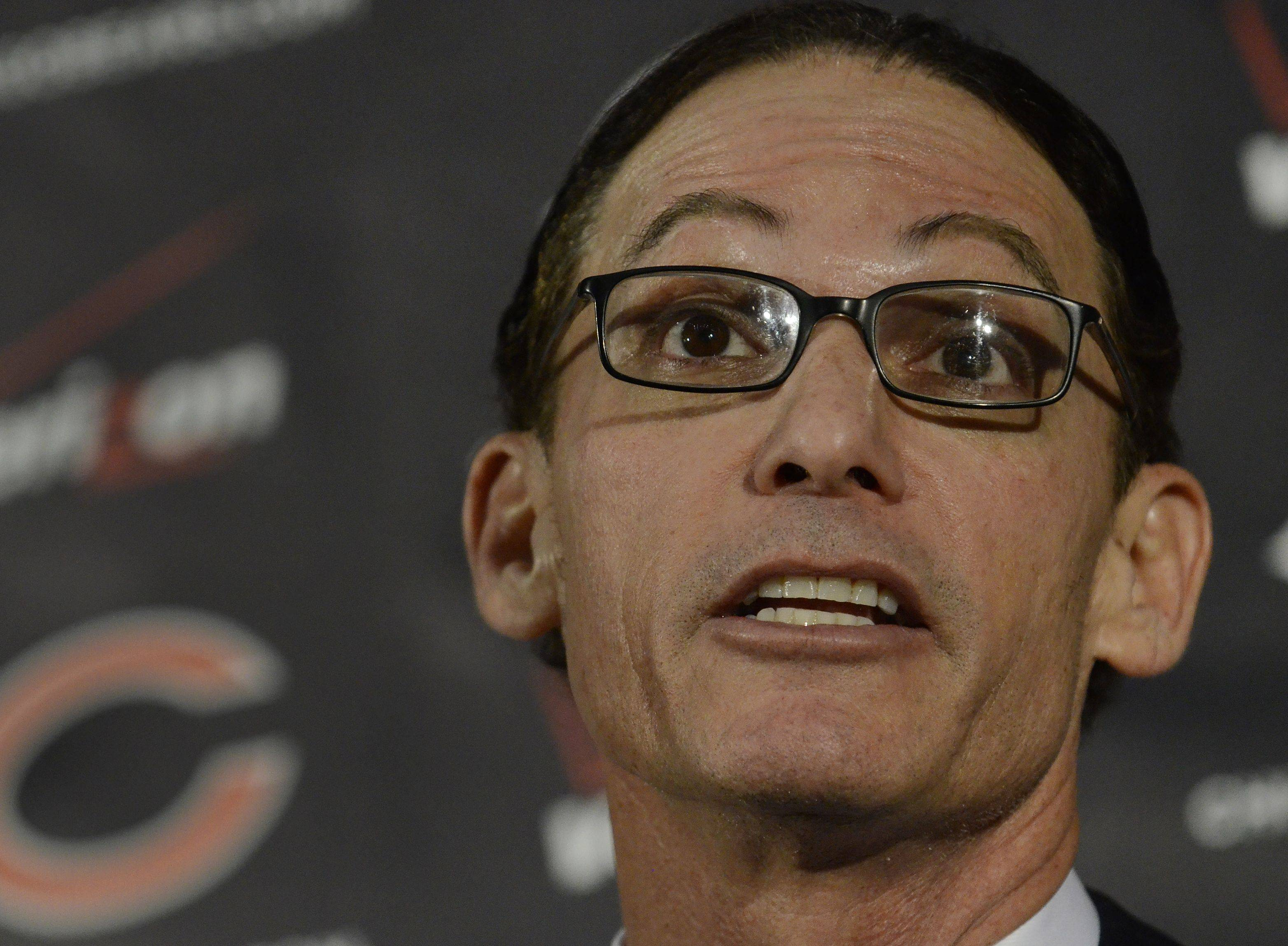 After being introduced as the 14th head coach of the Bears, Marc Trestman told reporters he expects his players to really love football.