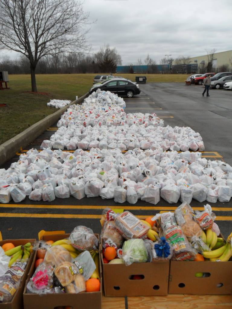 Groceries to sent to the 121 needy seniors in HSP's Senior Citizen Project.