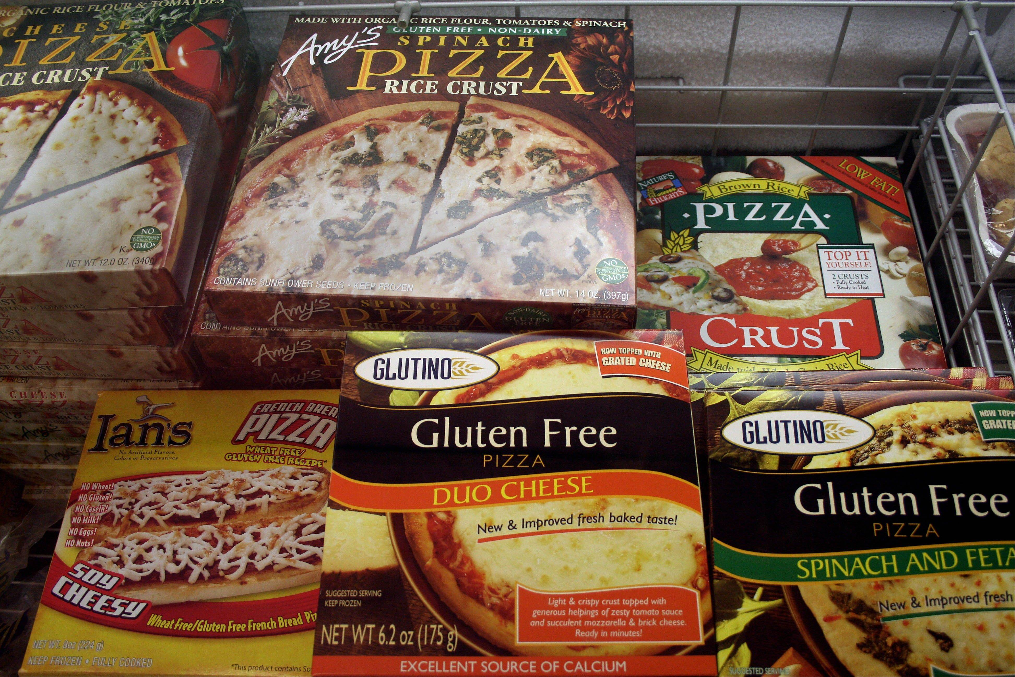 Gluten-free frozen pizza, just one of hundreds of items at Gluten Free Trading Co. in Milwaukee.