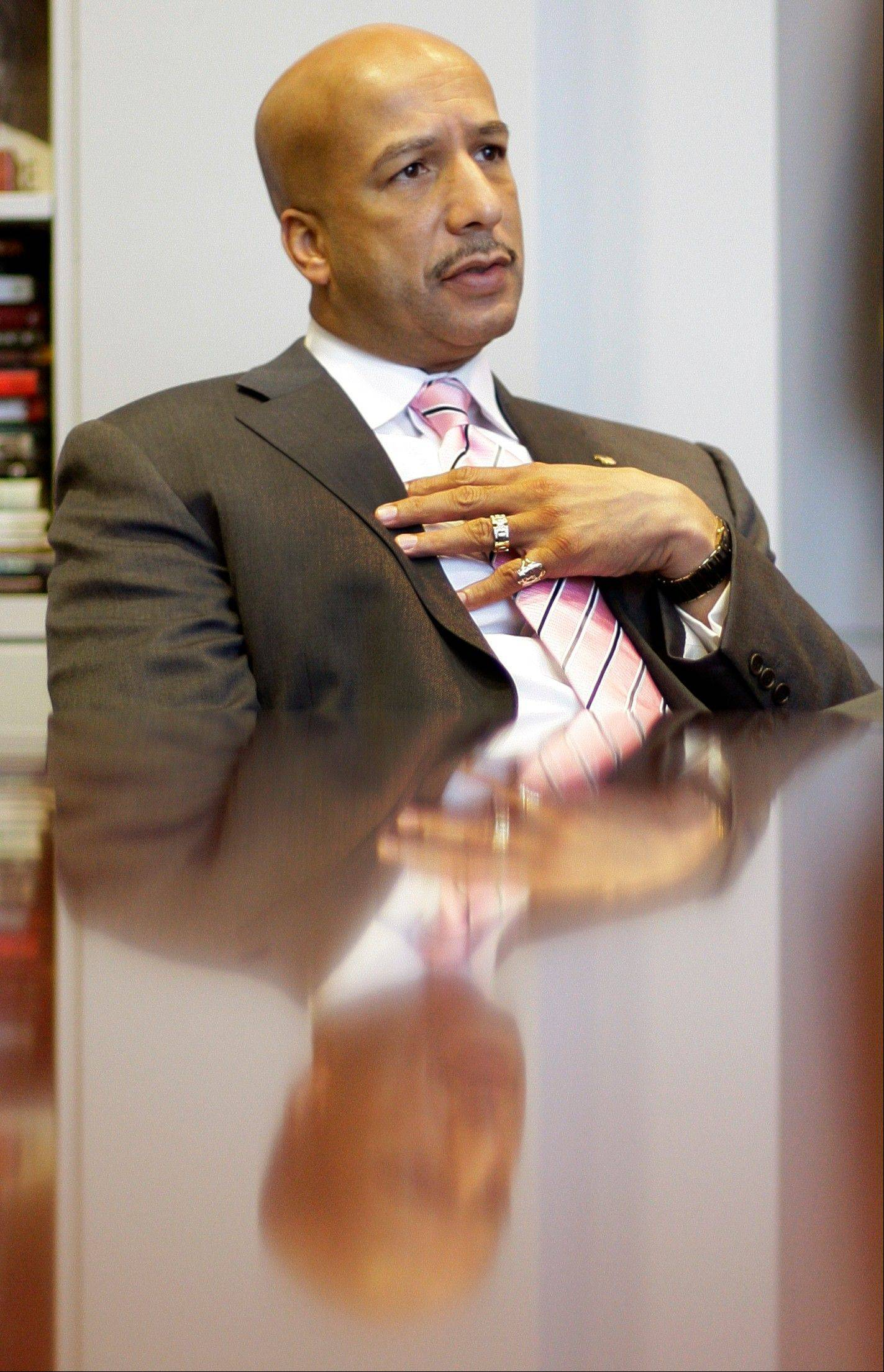 Associated Press/Dec. 23, 2008 Then-New Orleans Mayor Ray Nagin speaks during an interview in his office at City Hall in New Orleans.