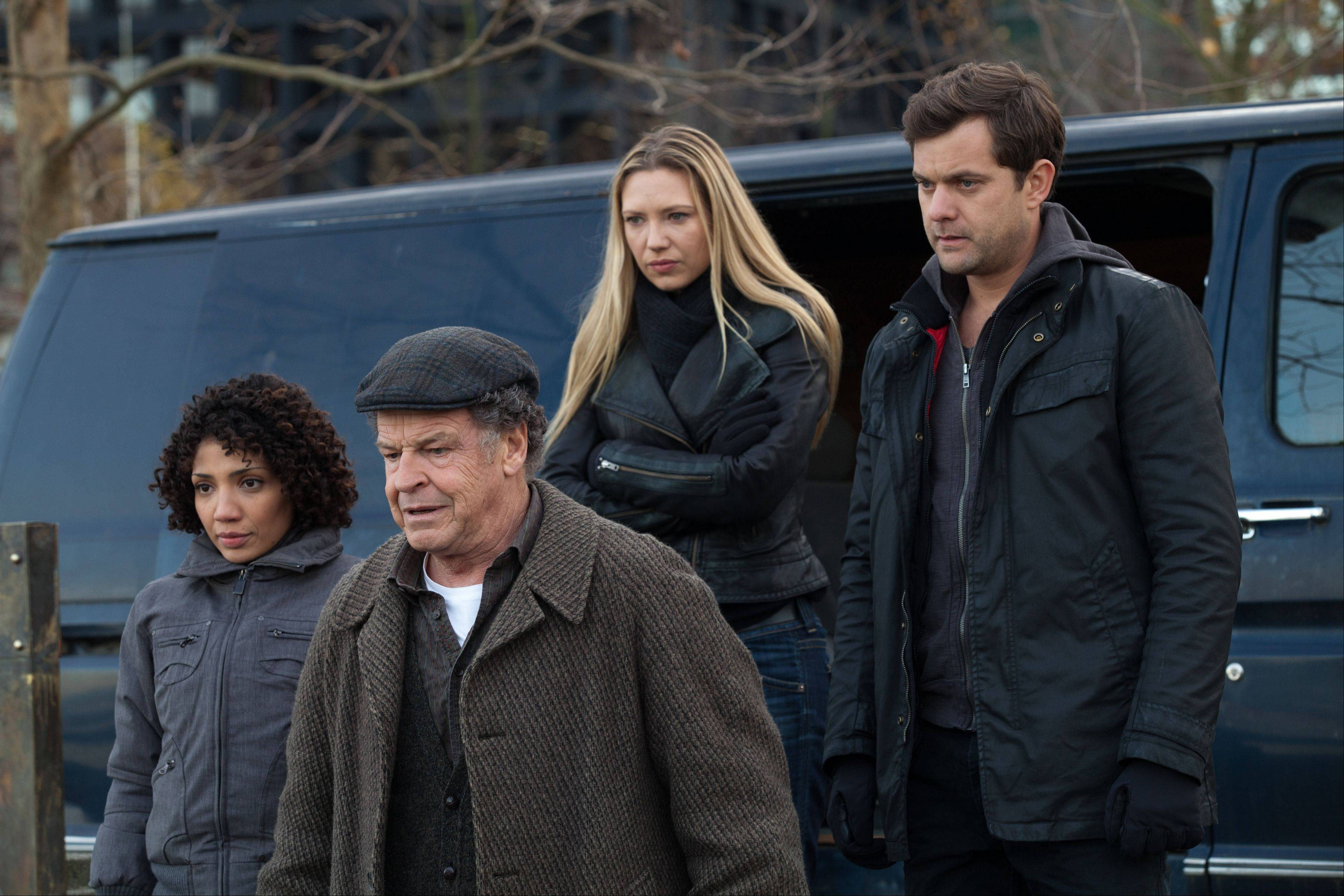 "Jasika Nicole, John Noble, Anna Torv and Joshua Jackson in a scene from the two-hour finale of ""Fringe,"" which wraps up a five-year run at 7 p.m. Friday on Fox."
