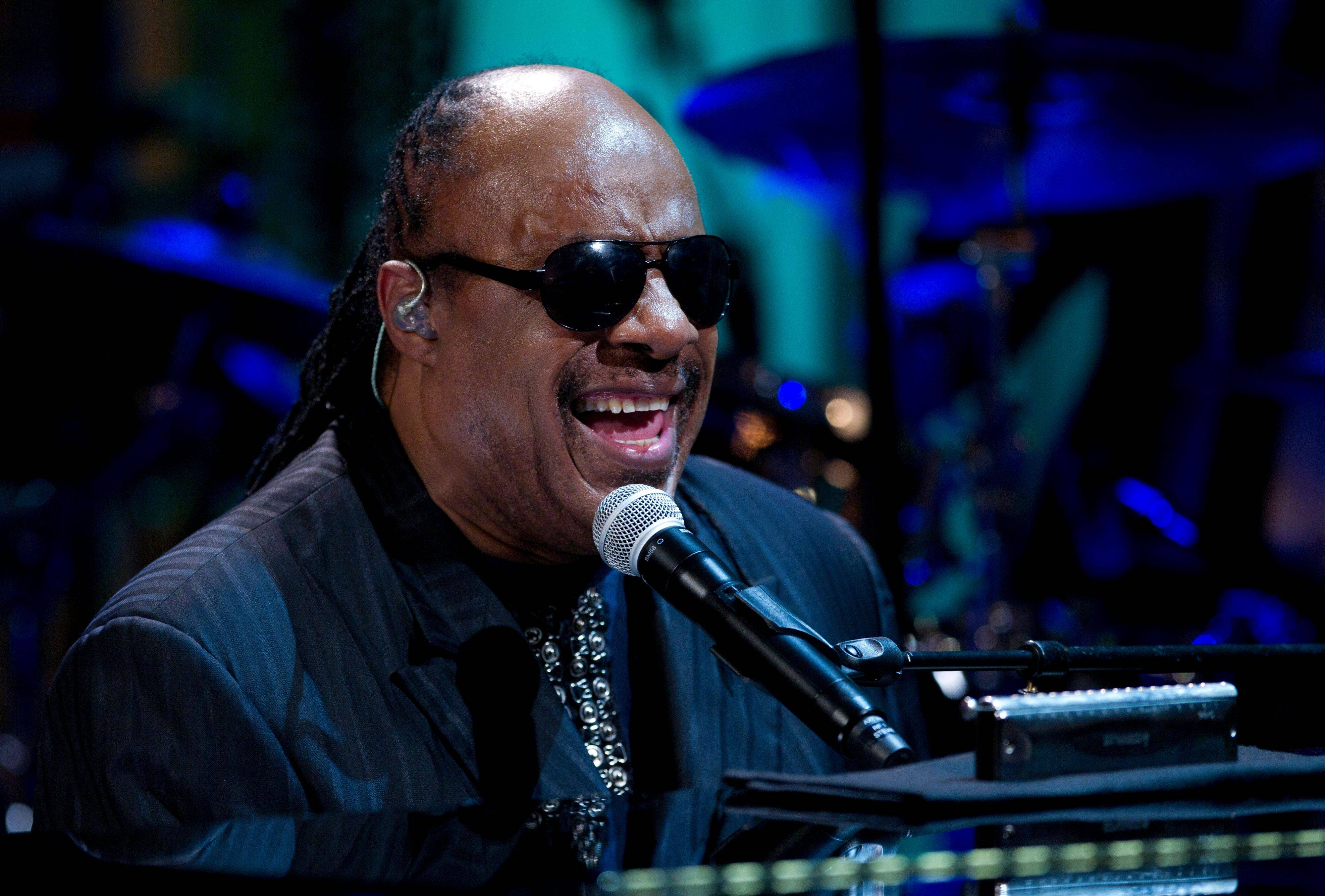 "Stevie Wonder performs during the ""In Performance at the White House"" in the East Room of the White House in Washington, honoring songwriters Burt Bacharach and Hal David."