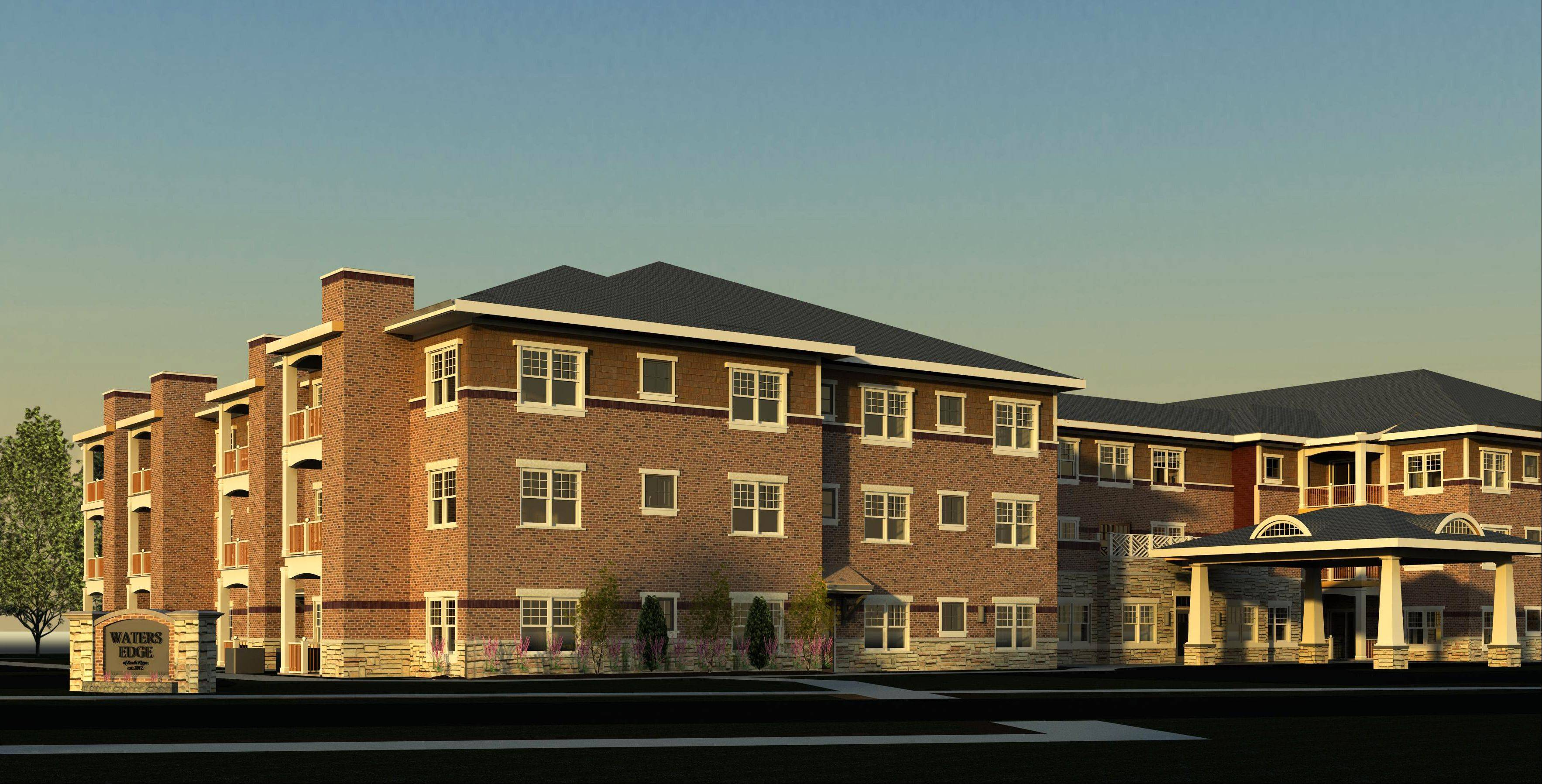 A rendering of the proposed development in South Elgin.
