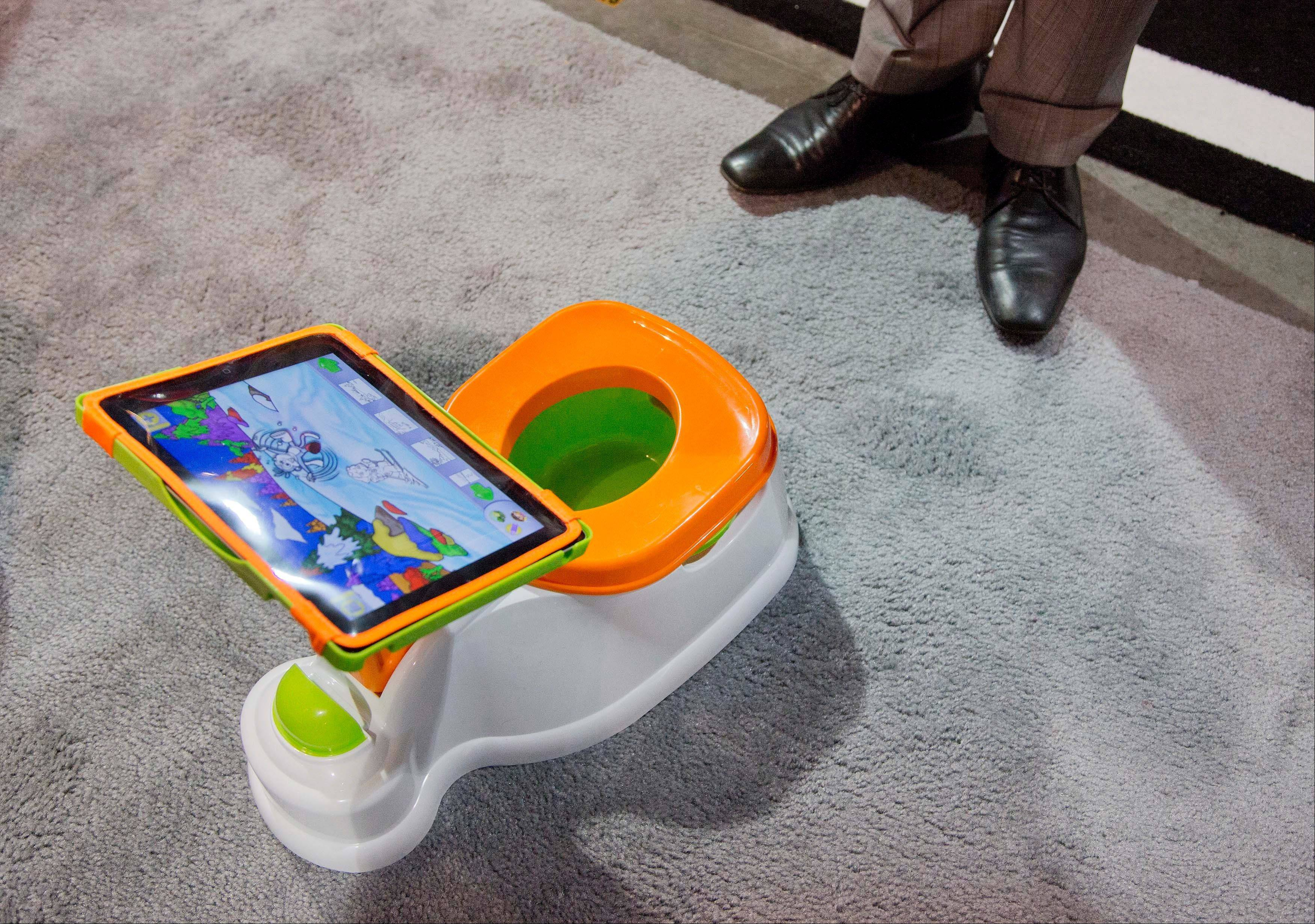 The iPotty for iPad potty training device is see on display at the Consumer Electronics Show in Las Vegas.