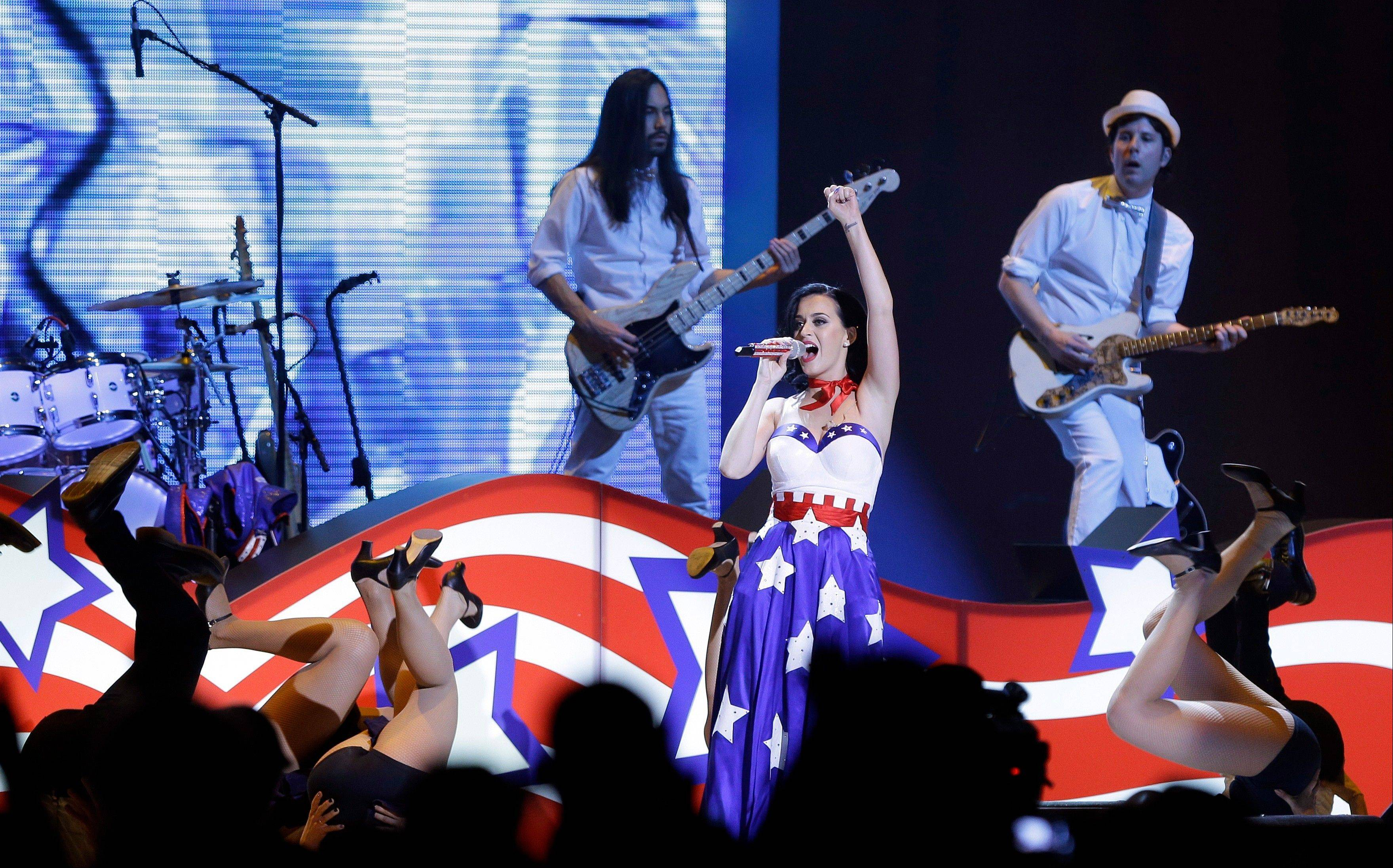 Katy Perry performs Saturday during the Kids� Inaugural: �Our Children. Our Future.� event in Washington.