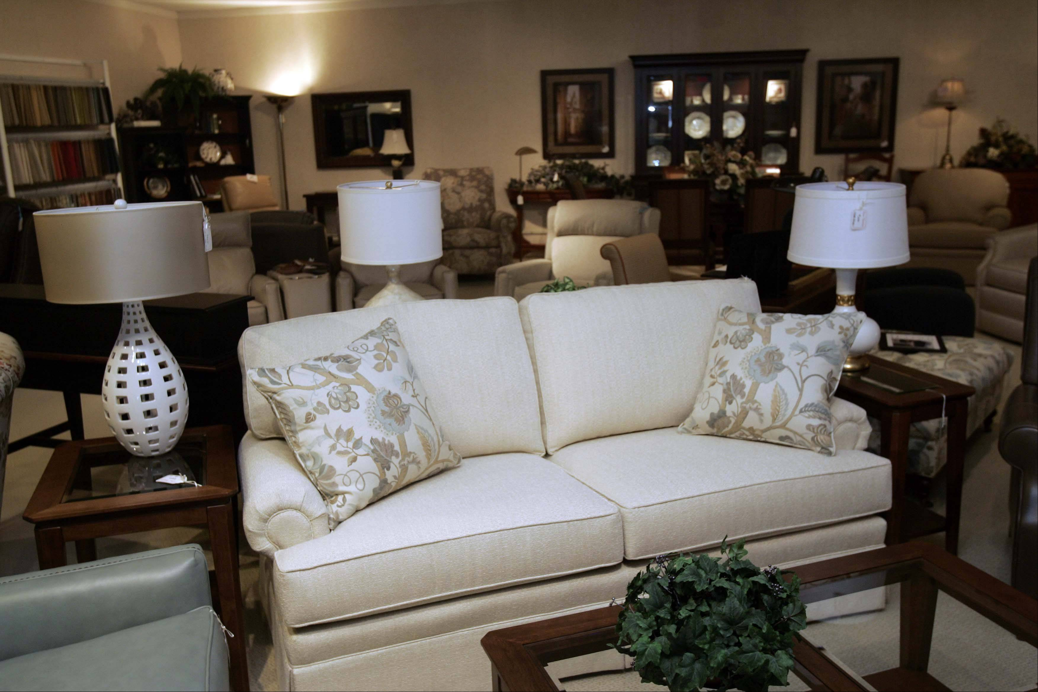 Dow Furniture in North Aurora offers some smaller and compact furniture for those looking to downsize.