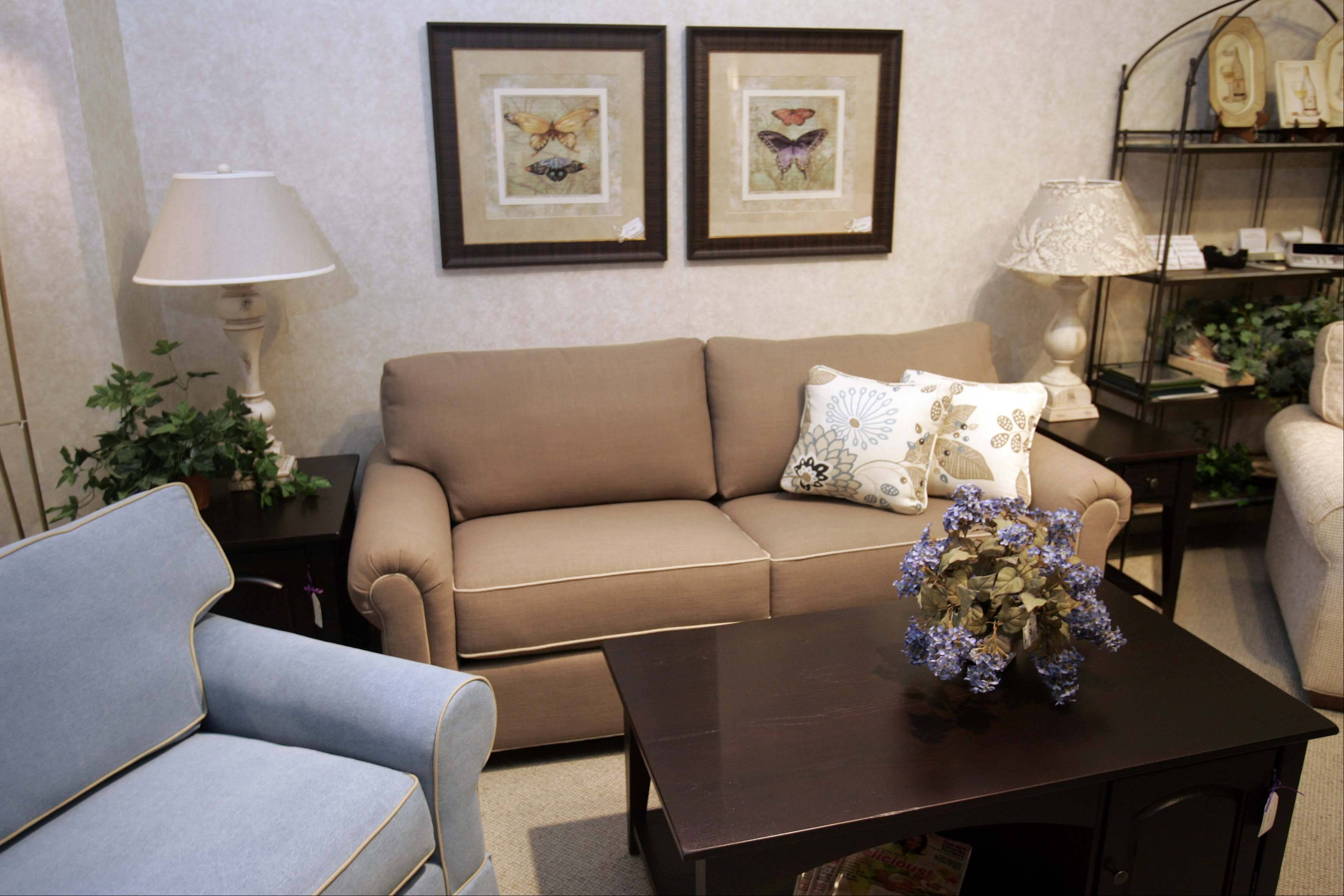 Dow Furniture in North Aurora offers some compact furniture for older customers downsizing into condos or smaller homes.