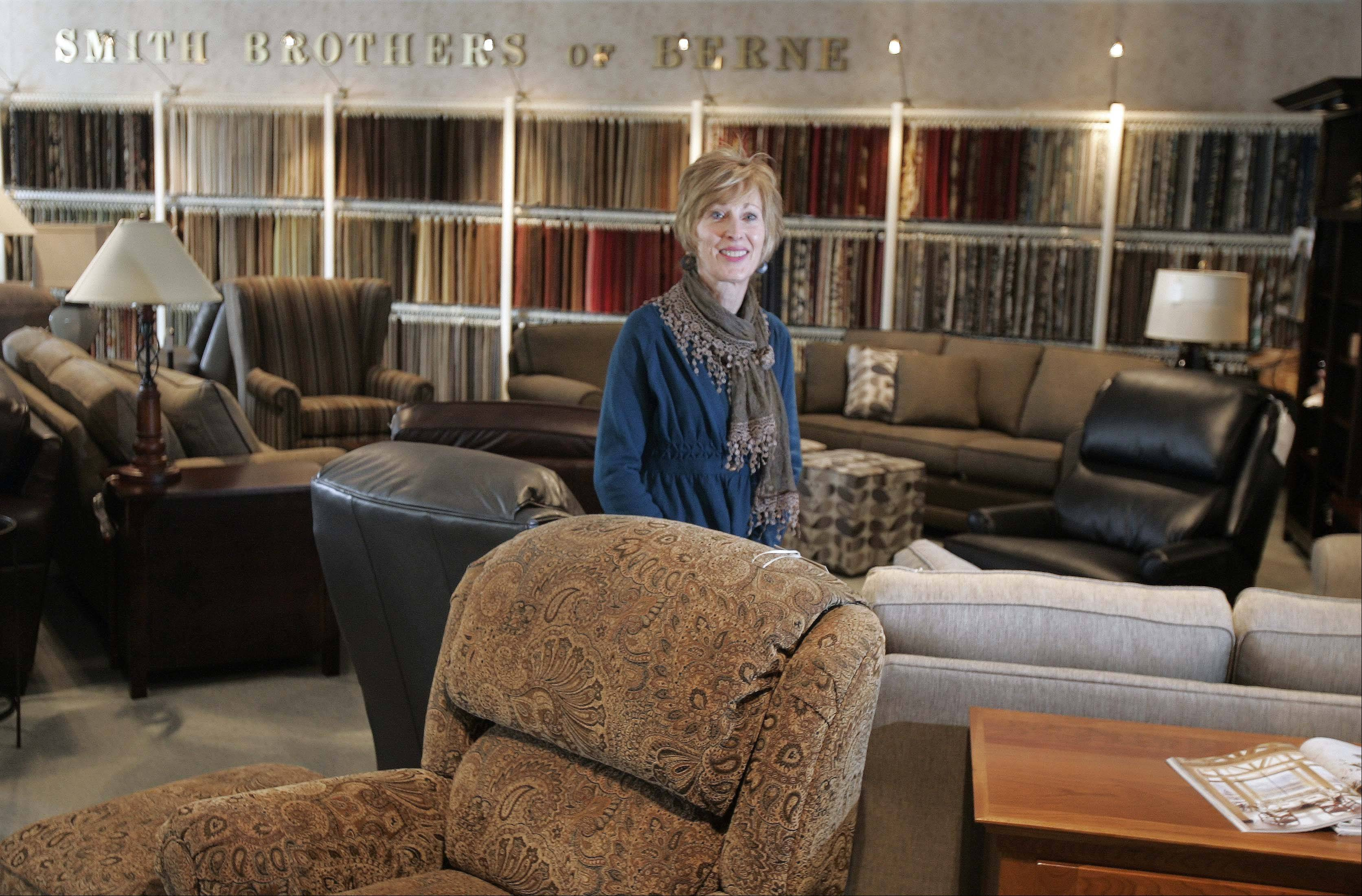 Jan Showalter, whose father opened Dow Furniture in 1959, now co-owns the store with her sister Jean McAtee.