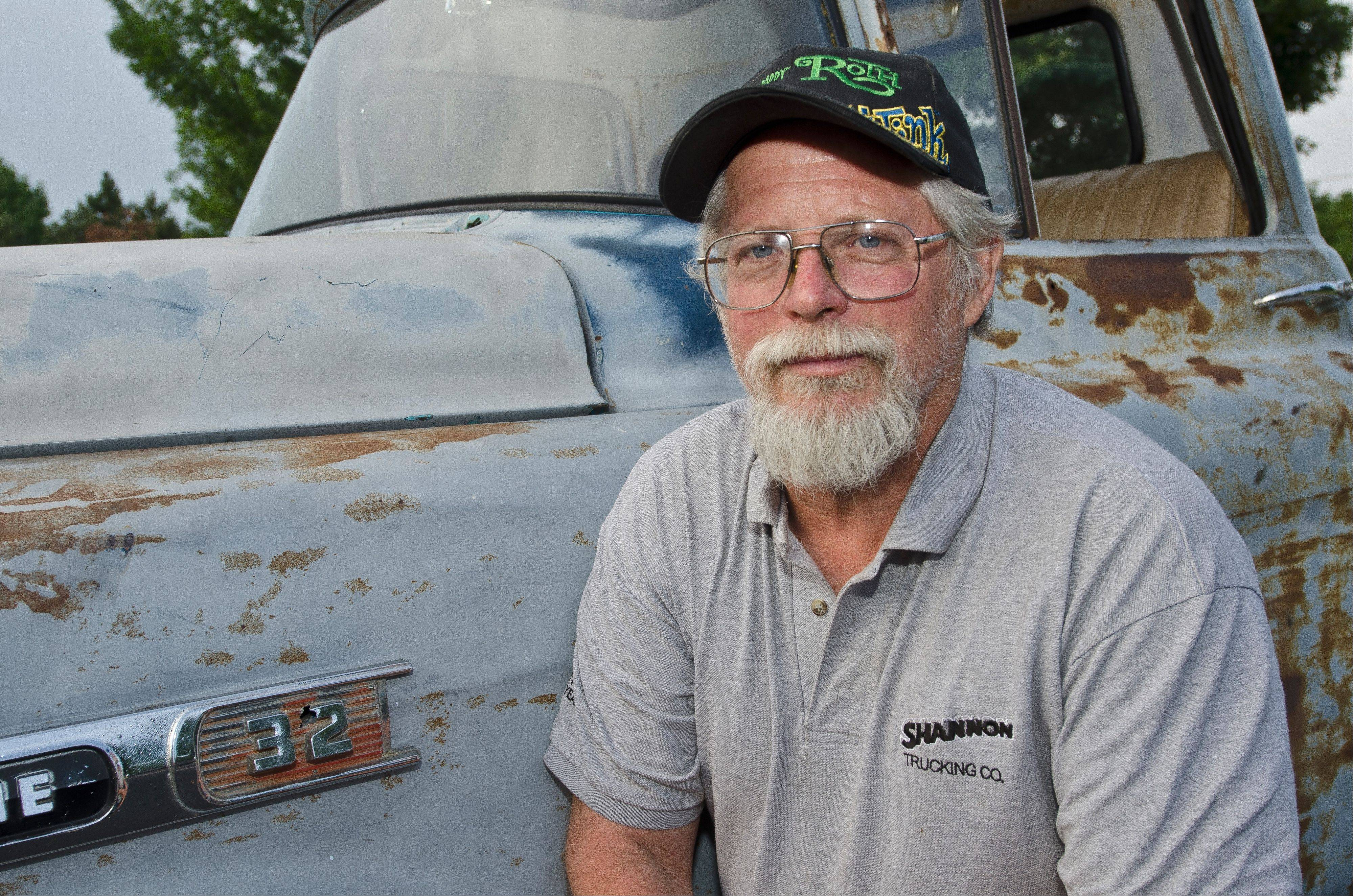 "Jim ""Wrench"" Guthrie of Medinah likes his truck's well-earned patina, both inside and out."