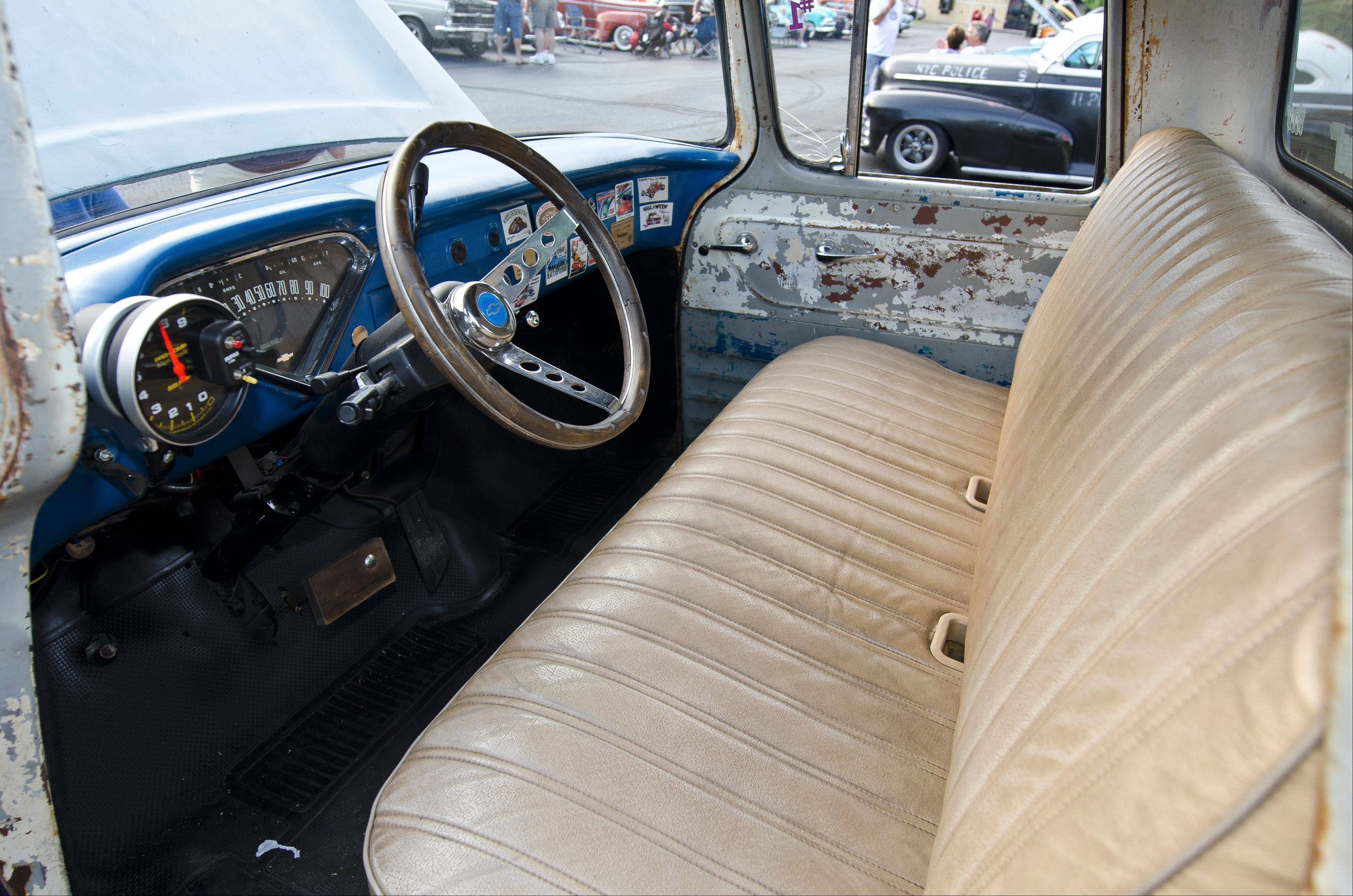 While a new seat and steering wheel grace the cab, much of the interior also has been kept in original condition.
