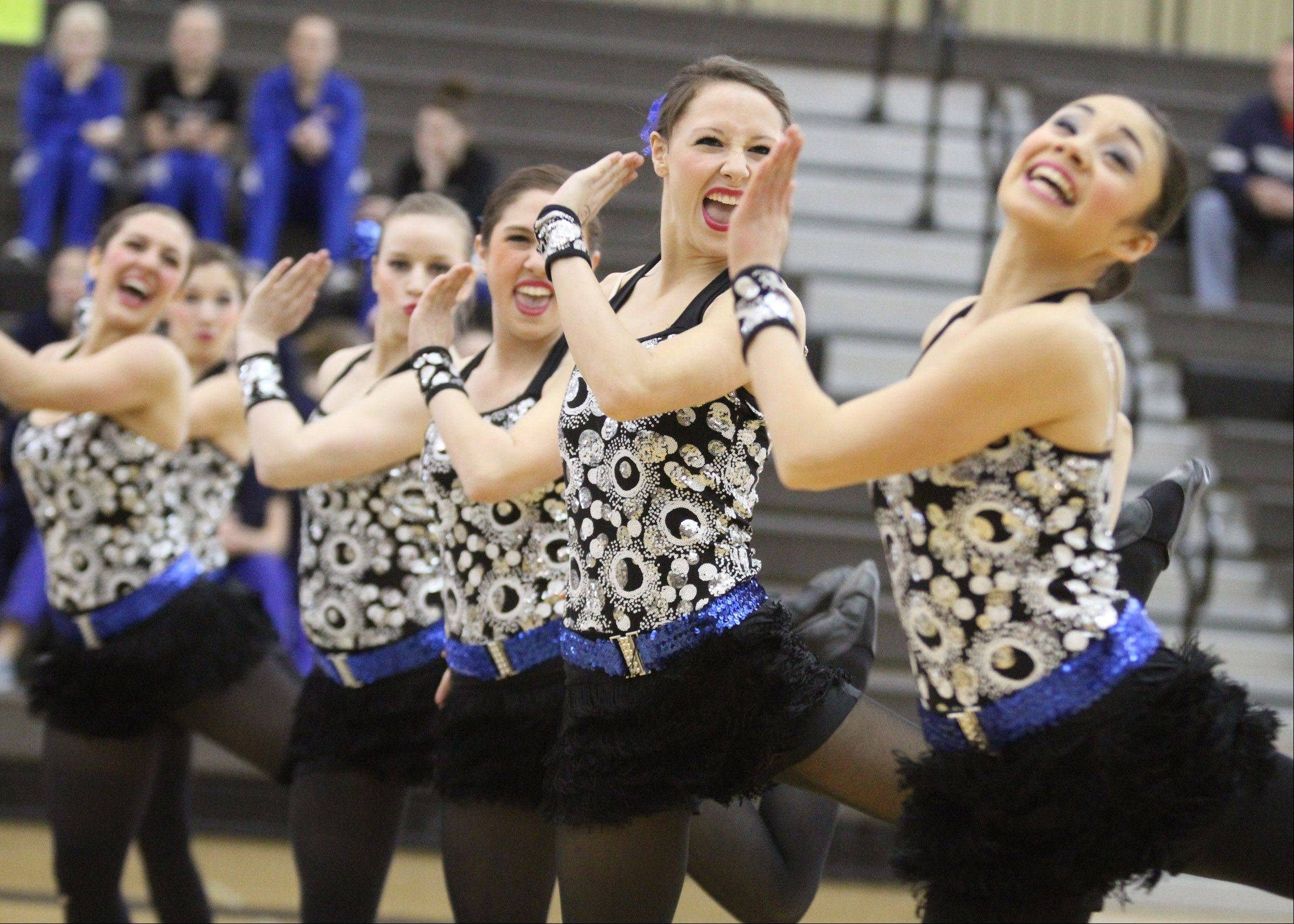 Lakes High School dance team competes at the IHSA competitive dance sectional in Grayslake on Saturday.