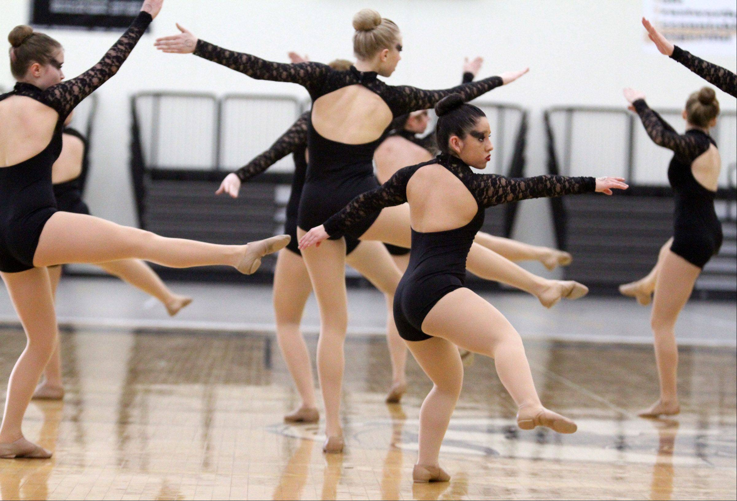 George LeClaire/gleclaire@dailyherald.comWauconda High School dance team competes at IHSA competitive dance sectional in Grayslake on Saturday.