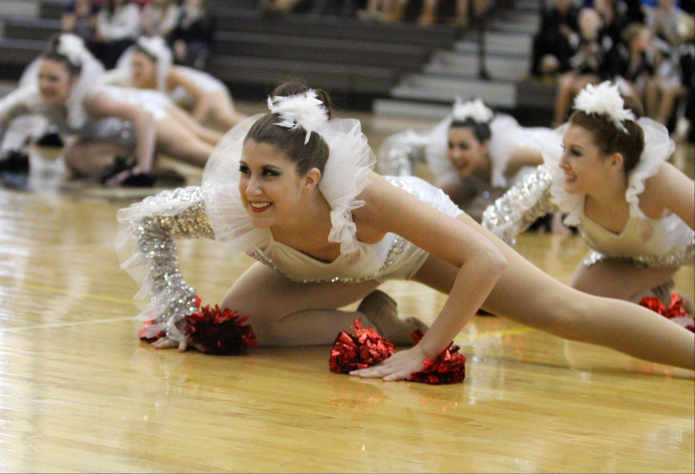 Cary-Grove High School dance team competes at the IHSA competitive dance sectional in Grayslake on Saturday.
