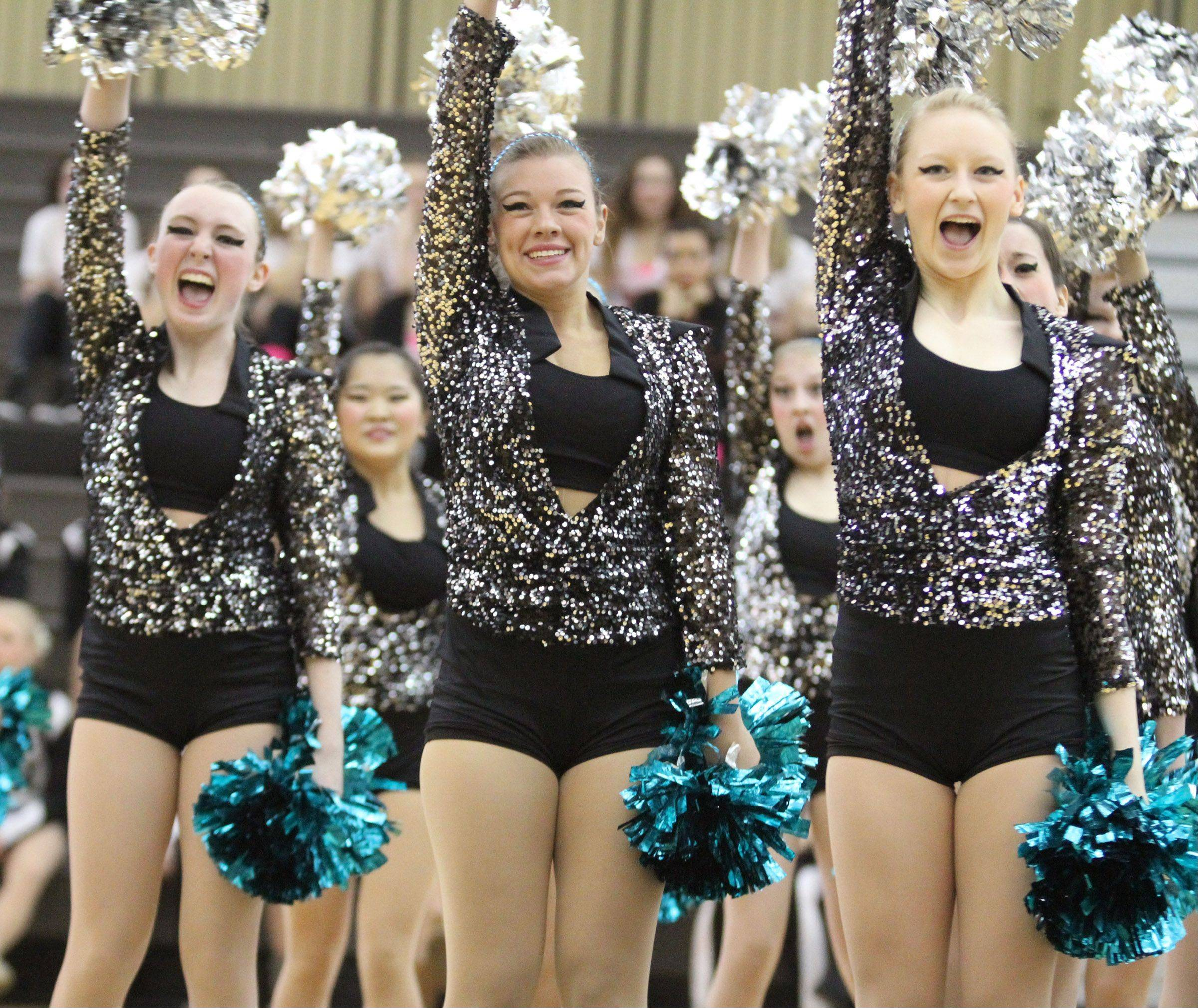 Grayslake Central High School dance team competes at the IHSA competitive dance sectional in Grayslake on Saturday.
