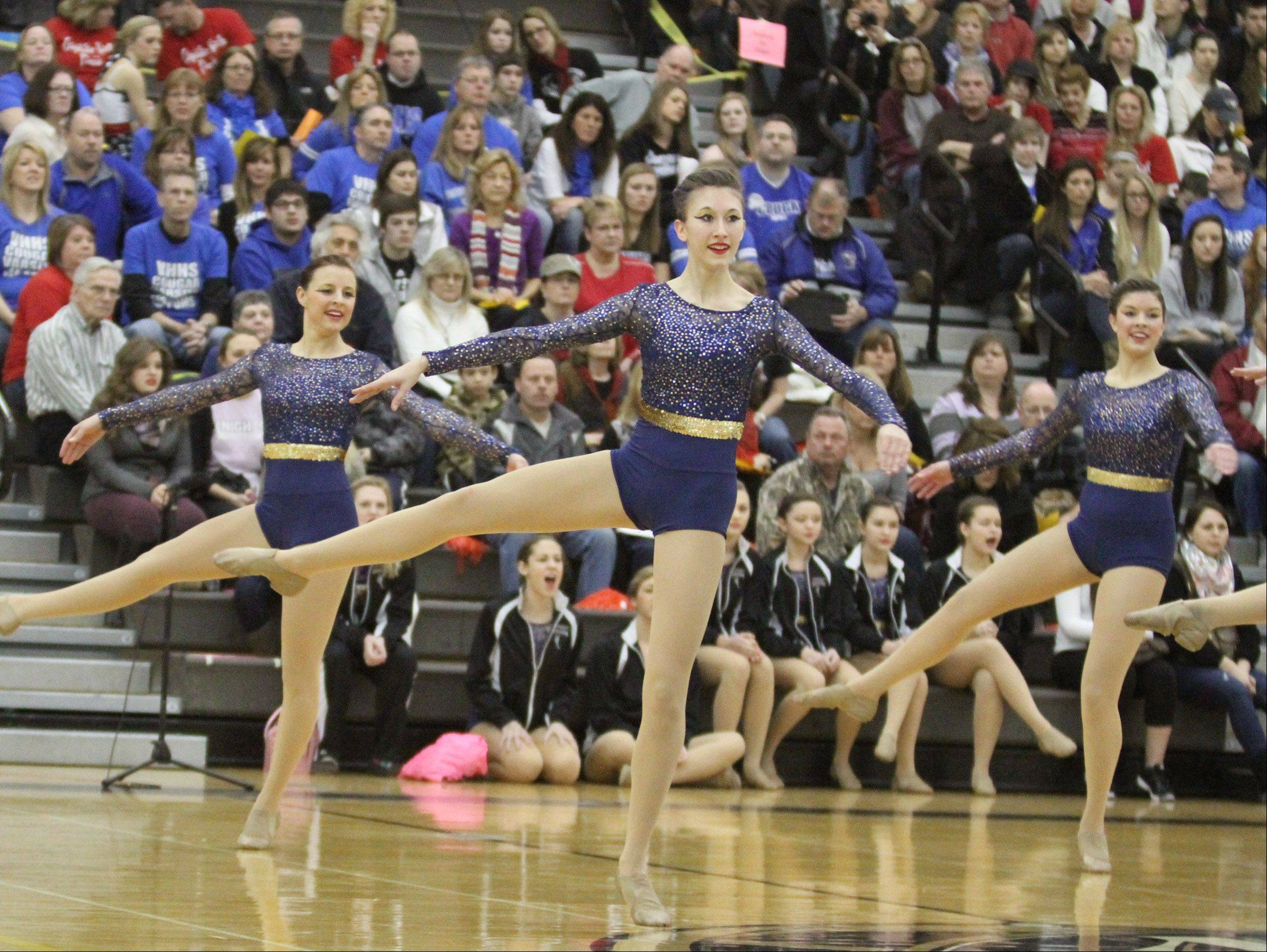 Antioch Community High School dance team competes at the IHSA competitive dance sectional in Grayslake on Saturday.
