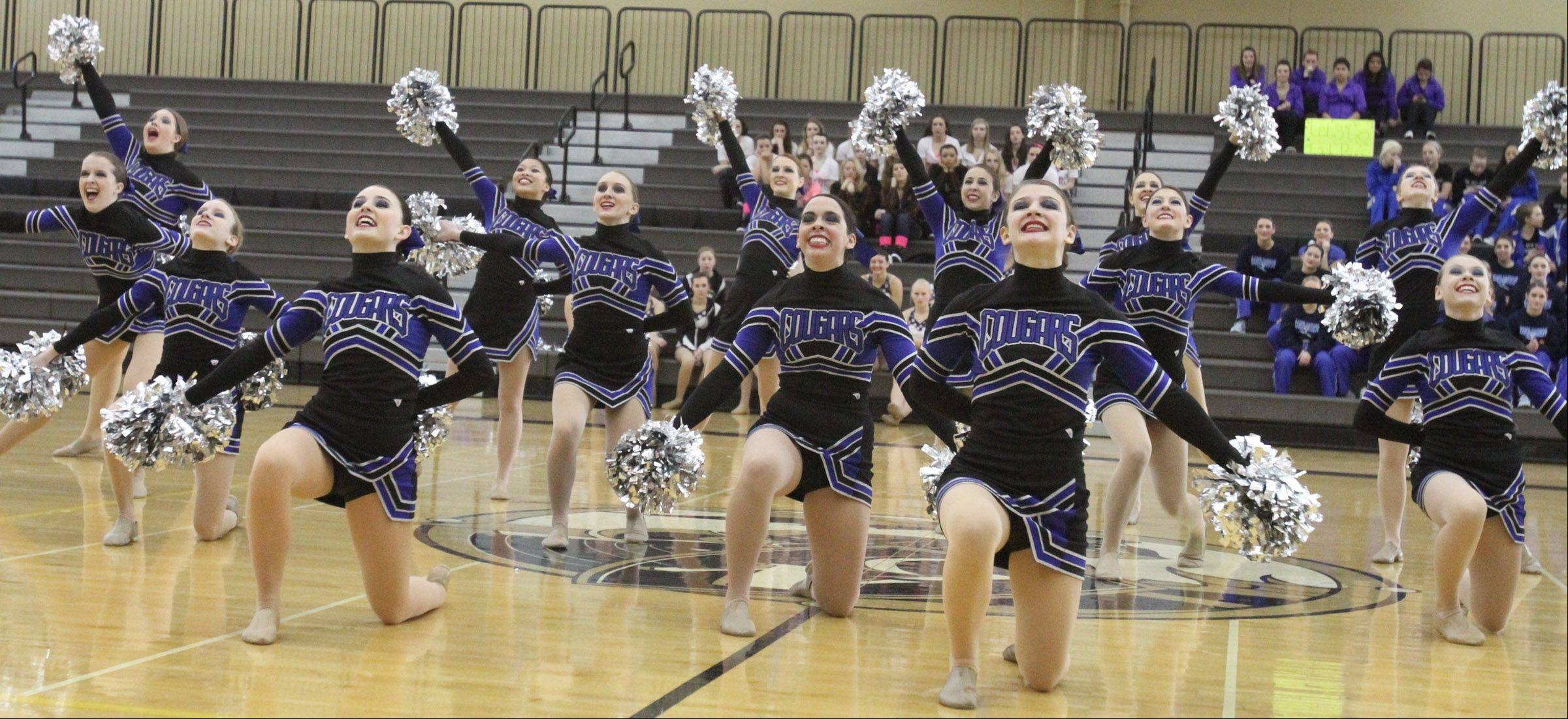 Vernon Hills High School dance team competes at the IHSA competitive dance sectional in Grayslake on Saturday.