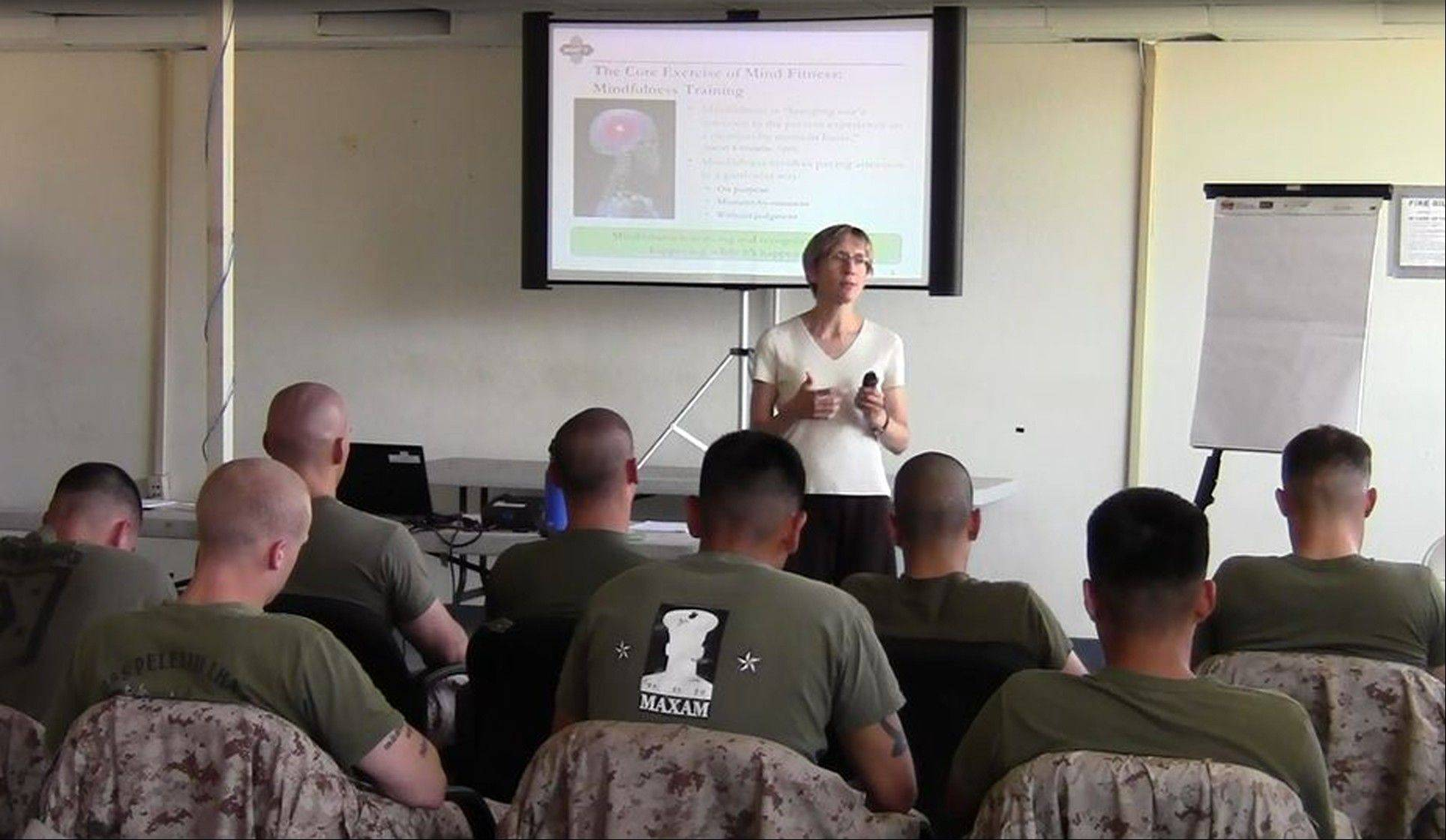 Associated Press/2011 Dr. Elizabeth Stanley instructs a class of U.S. Marines at Camp Pendleton, Calif.