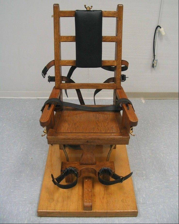 The electric chair at the Greensville Correctional Center in Jarratt, Va.
